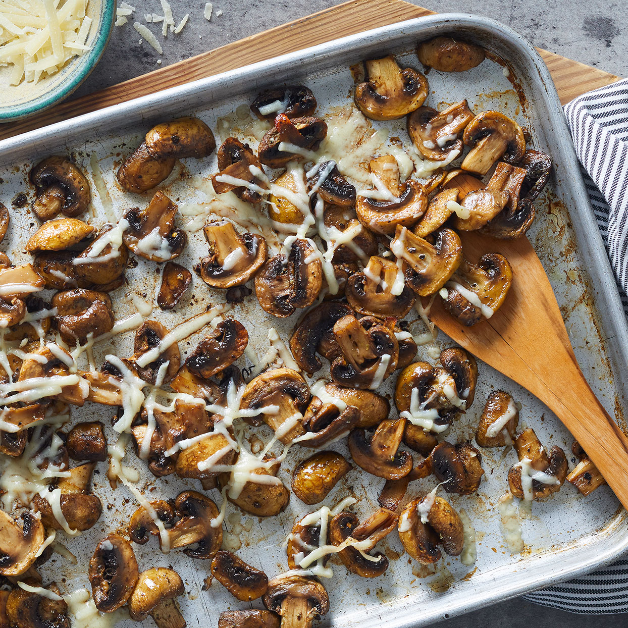 Balsamic-Roasted Mushrooms with Parmesan Trusted Brands