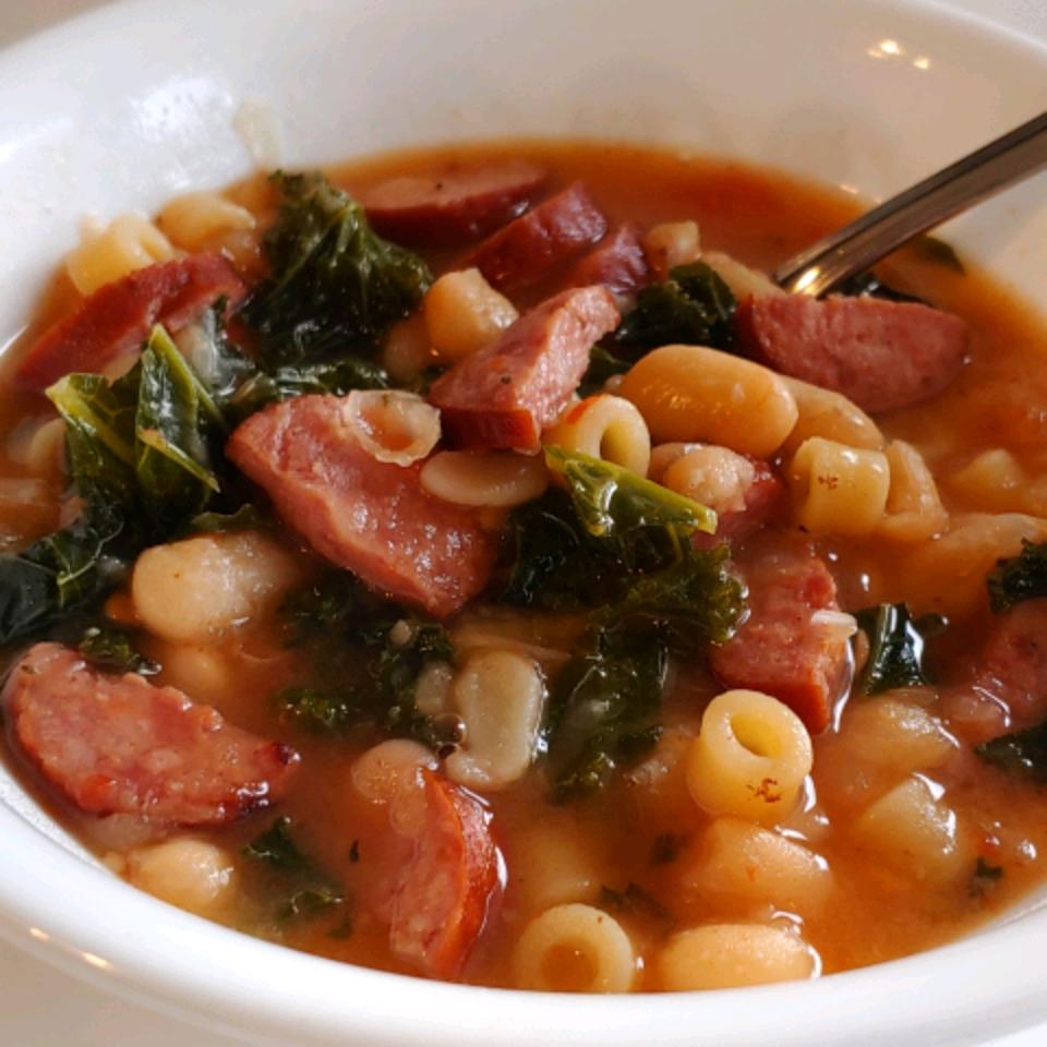 Smoked Sausage and Tuscan White Bean Soup
