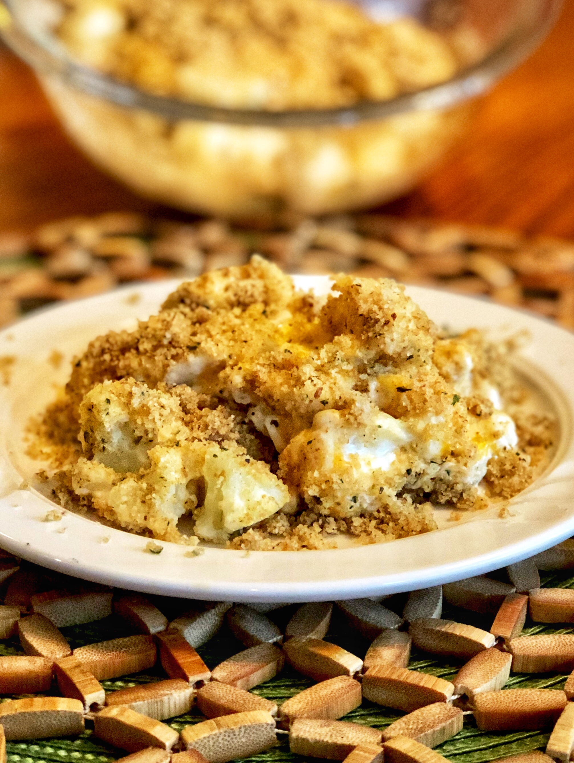 Three-Cheese Cauliflower Casserole
