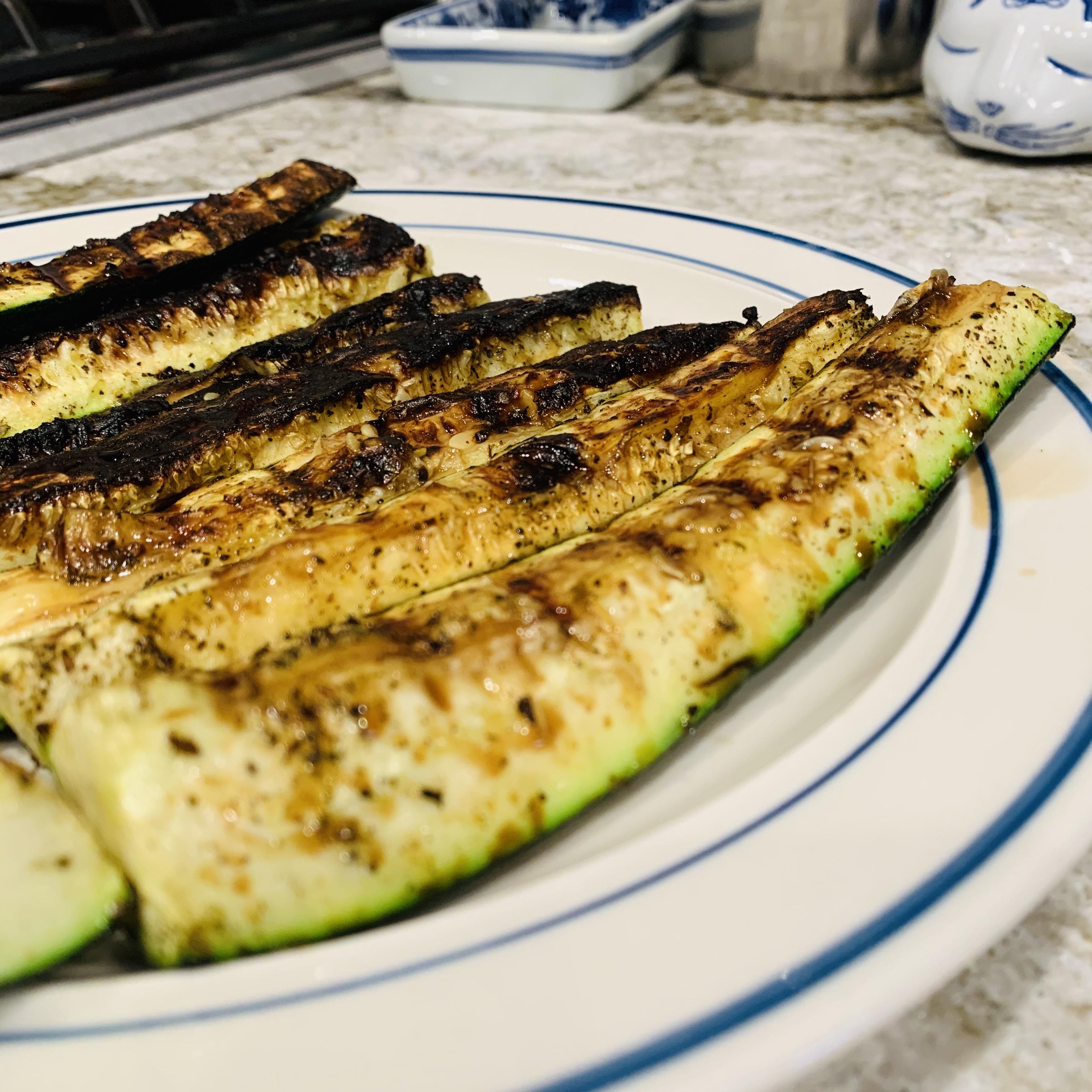 Balsamic Grilled Zucchini Kim Varley