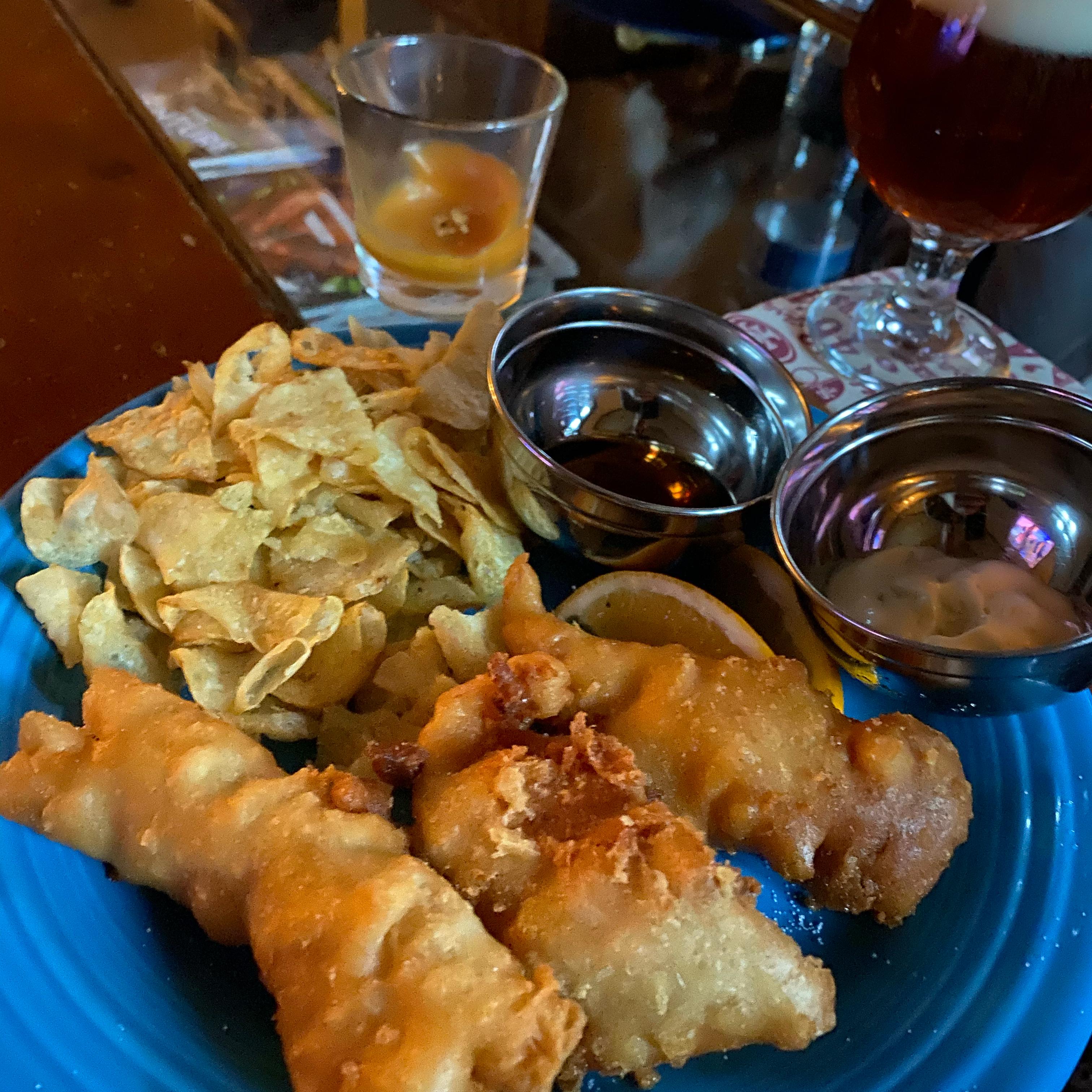 Crispy Beer Batter Fish & Chips Gregg Dorr