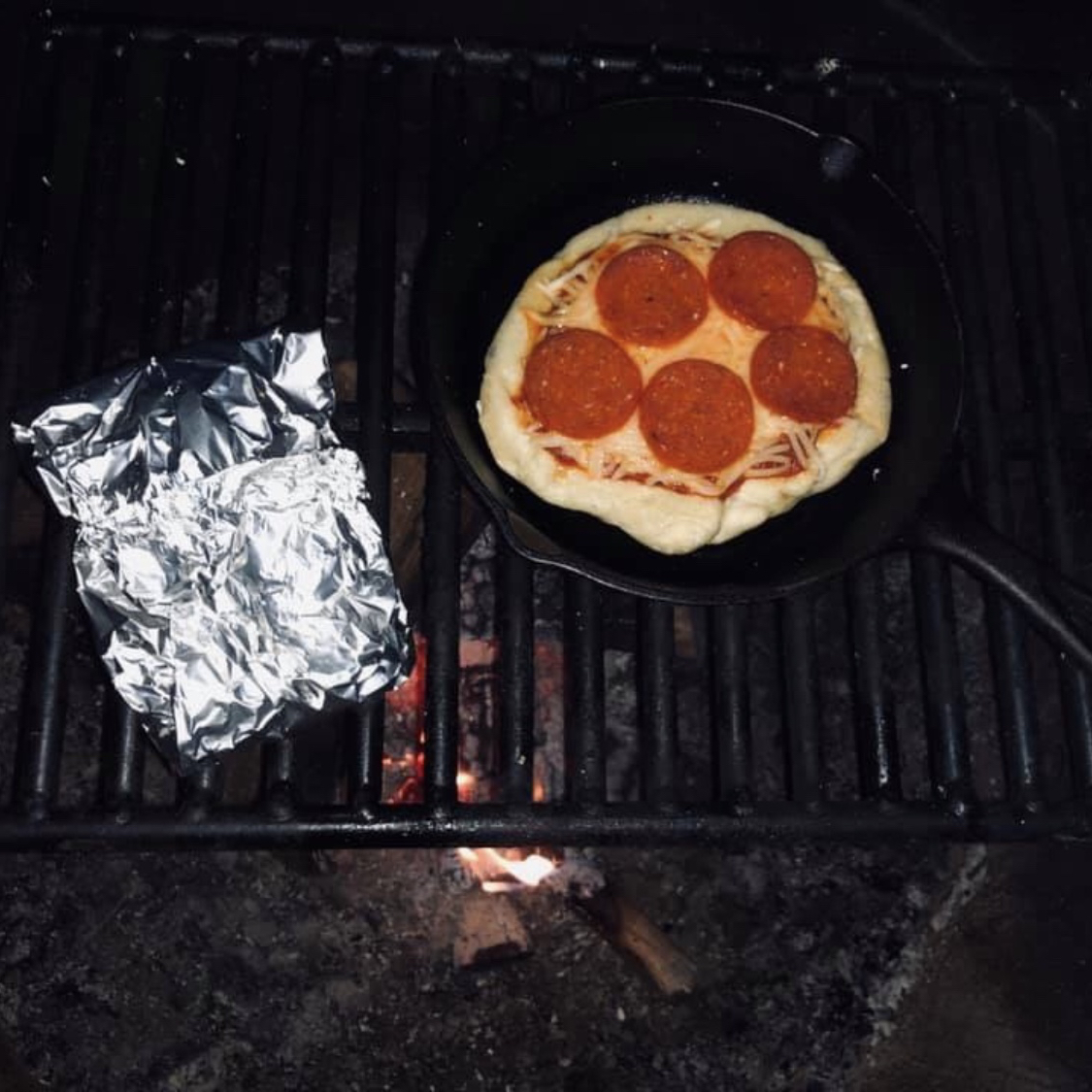 Campfire Pepperoni Pizza