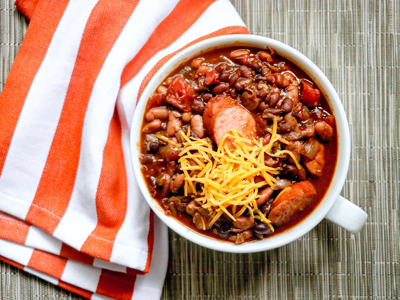 Multi-Cooker Chili with Hillshire Farm® Smoked Sausage fabeveryday
