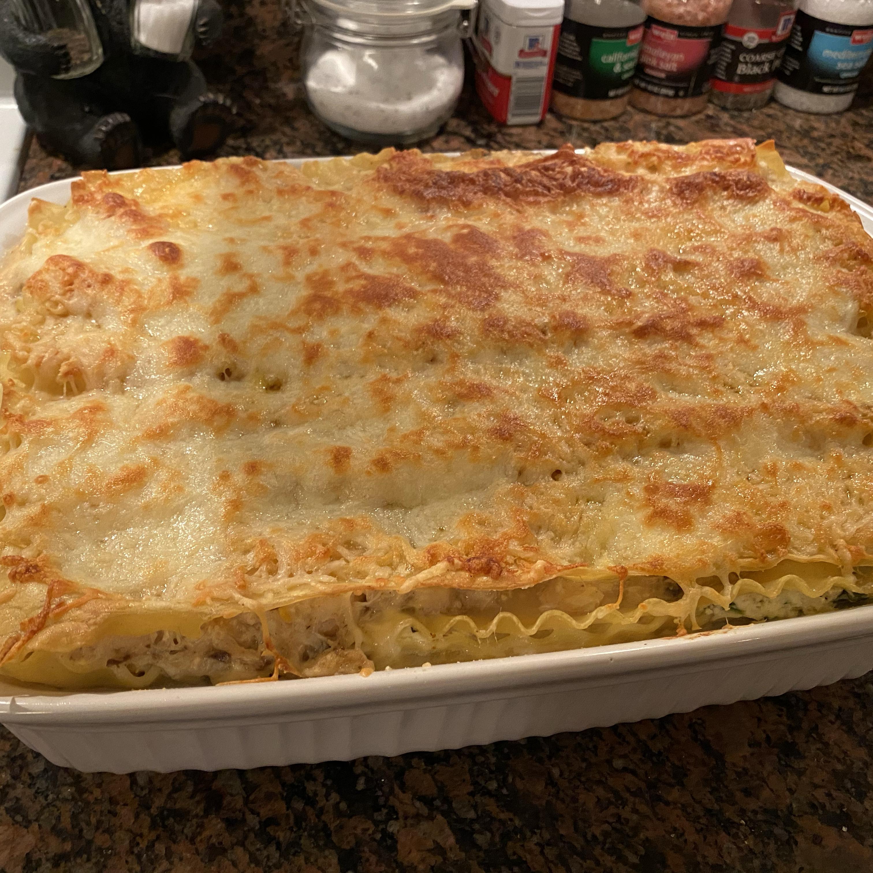 Seafood Lasagna with Shrimp