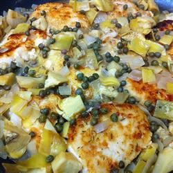 Chicken Piccata with Artichoke Hearts