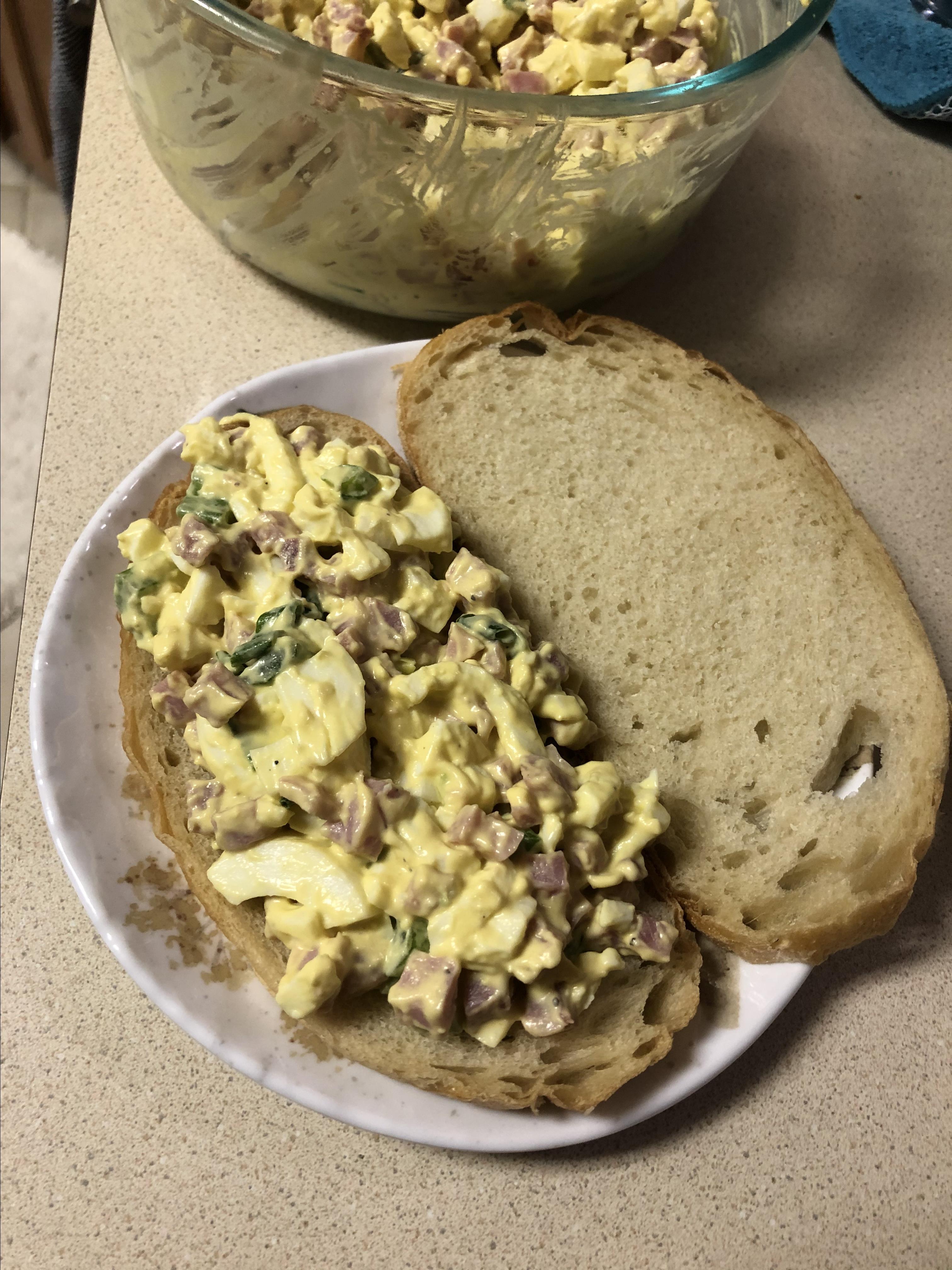 Ham & Egg Salad Sunny B