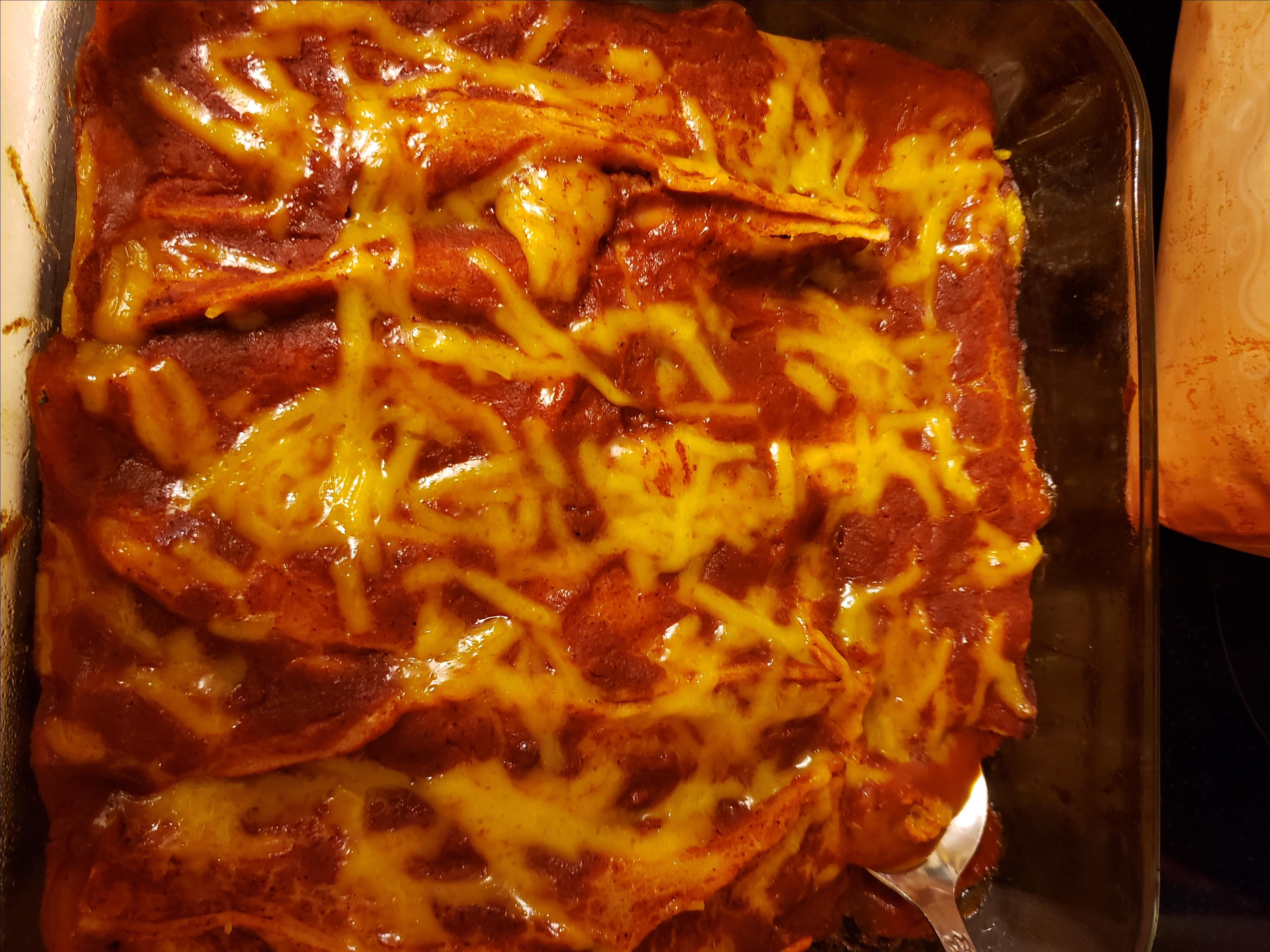 Refried Bean and Cheese Enchiladas Michelle Moore