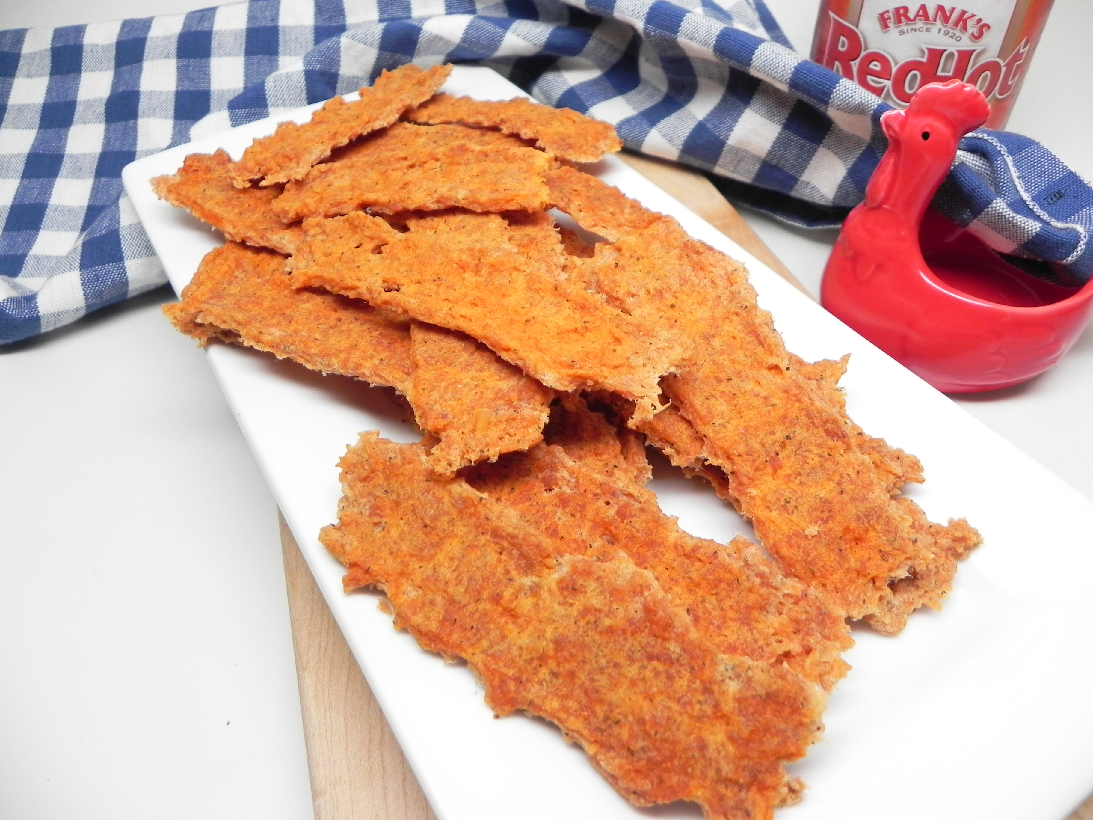 Air Fryer Oven Buffalo Chicken Jerky Sticks