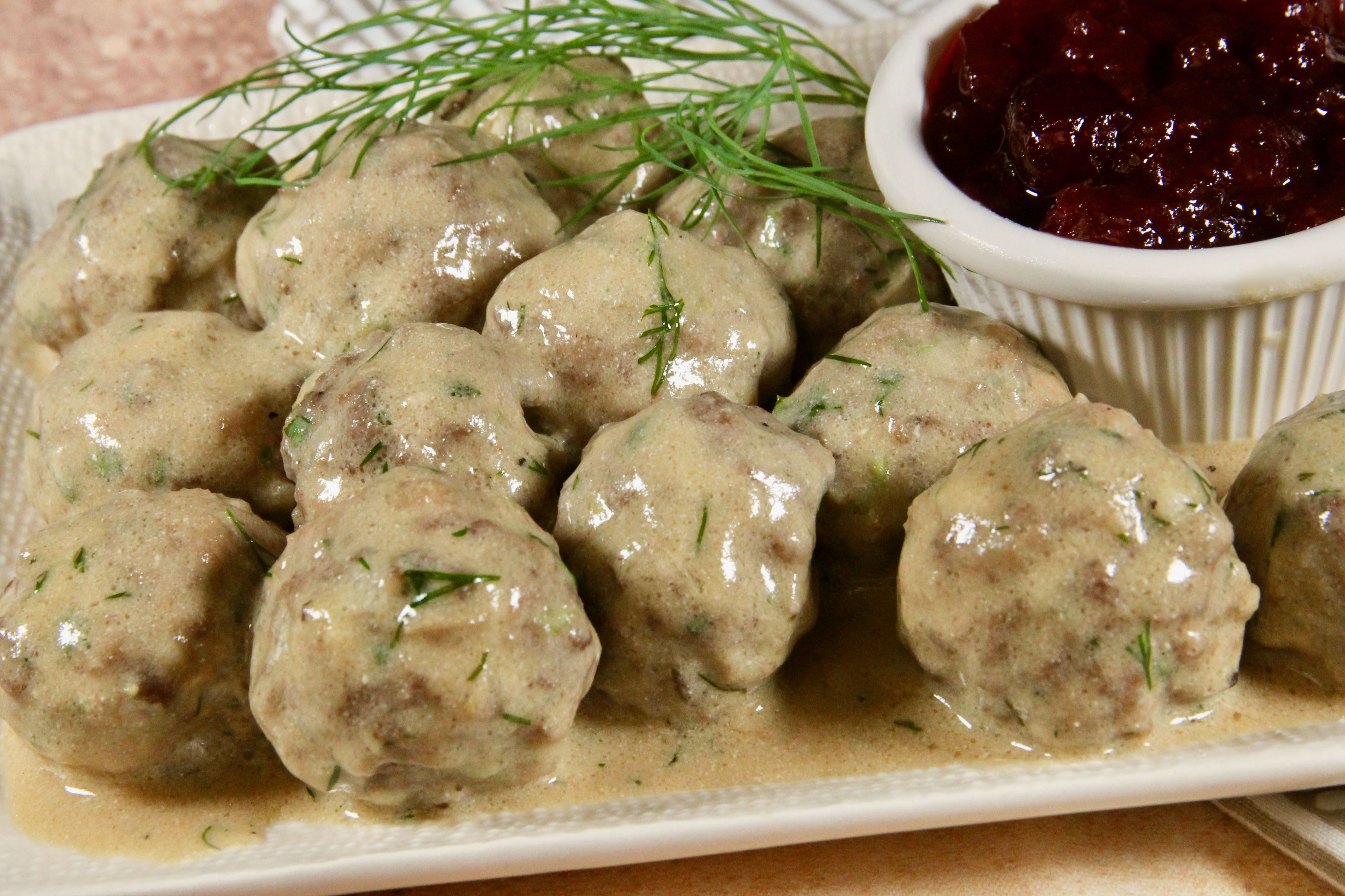 Swedish Meatballs with Creamy Dill Sauce