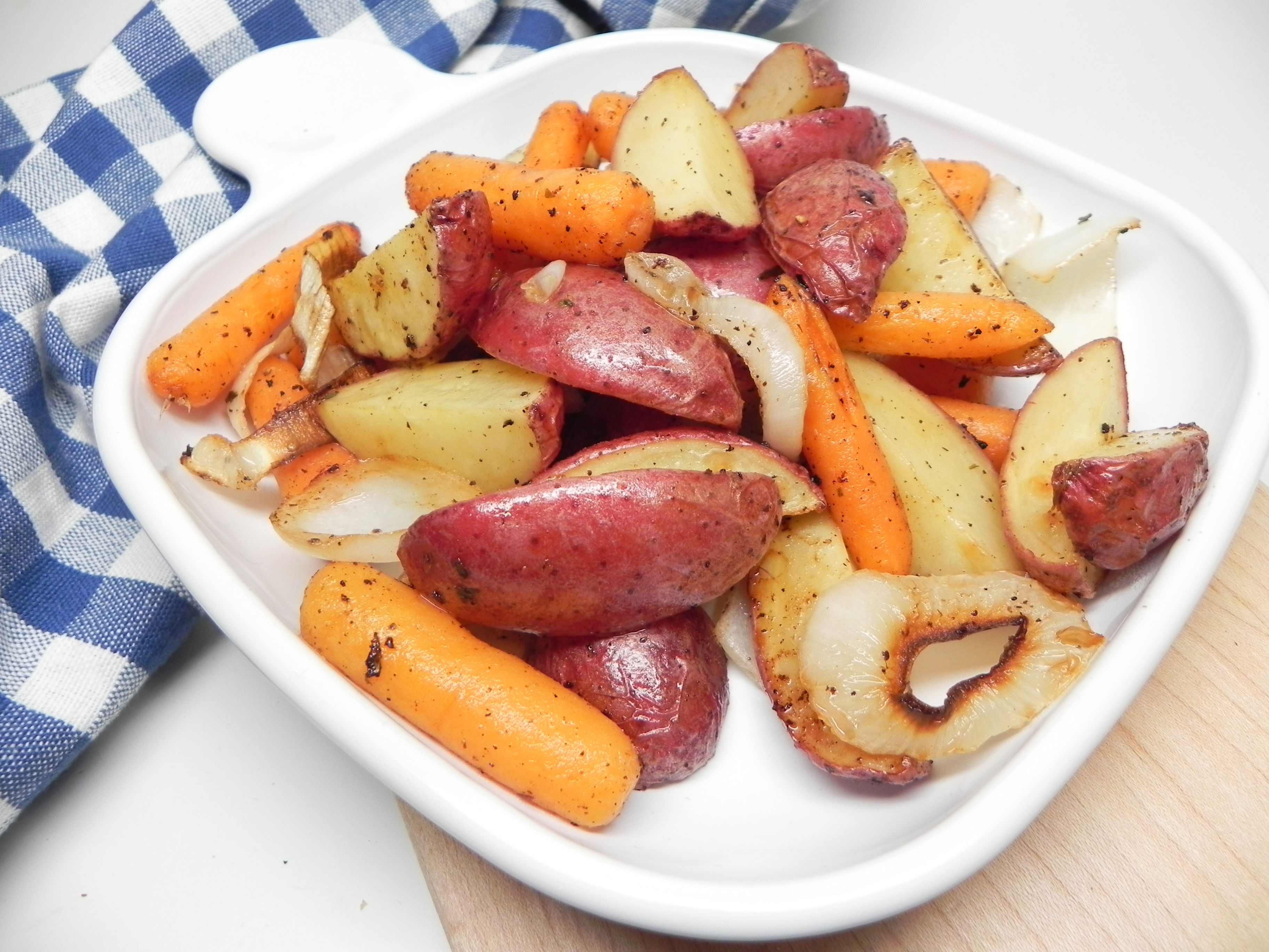 Roasted Potatoes and Carrots with Ranch Seasoning