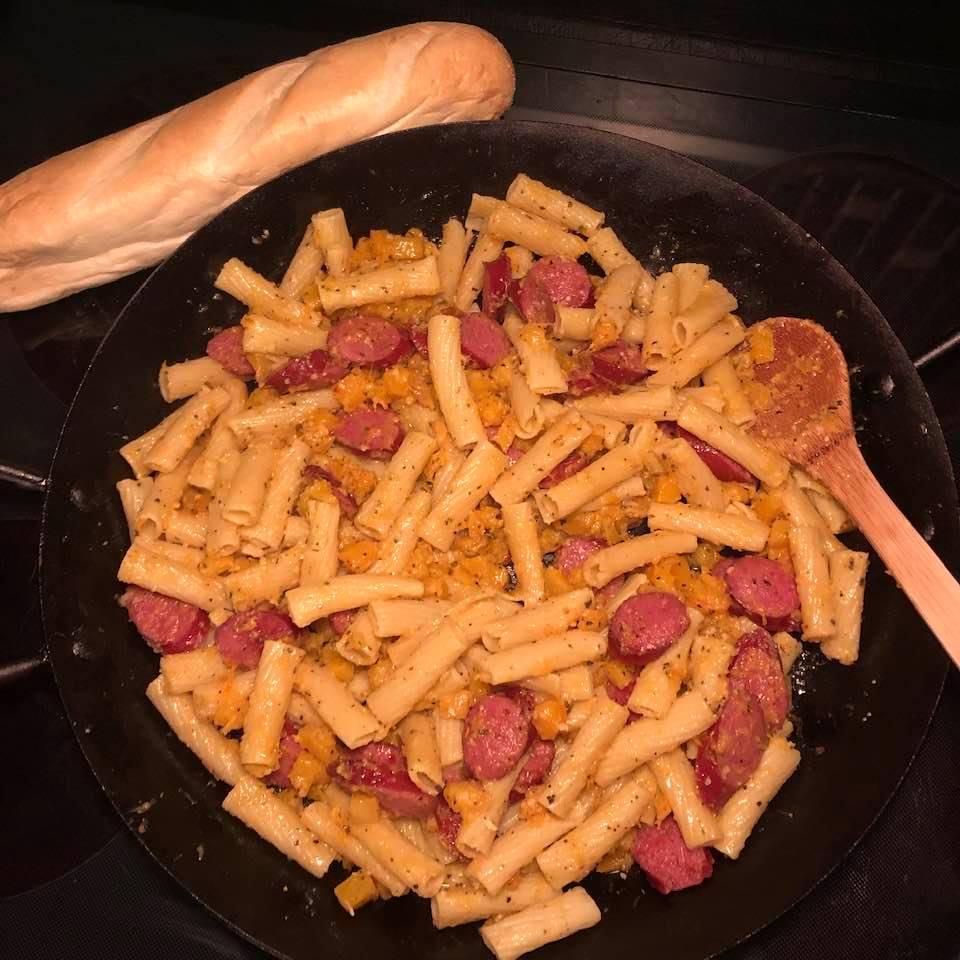 Smoked Sausage and Butternut Squash Pasta