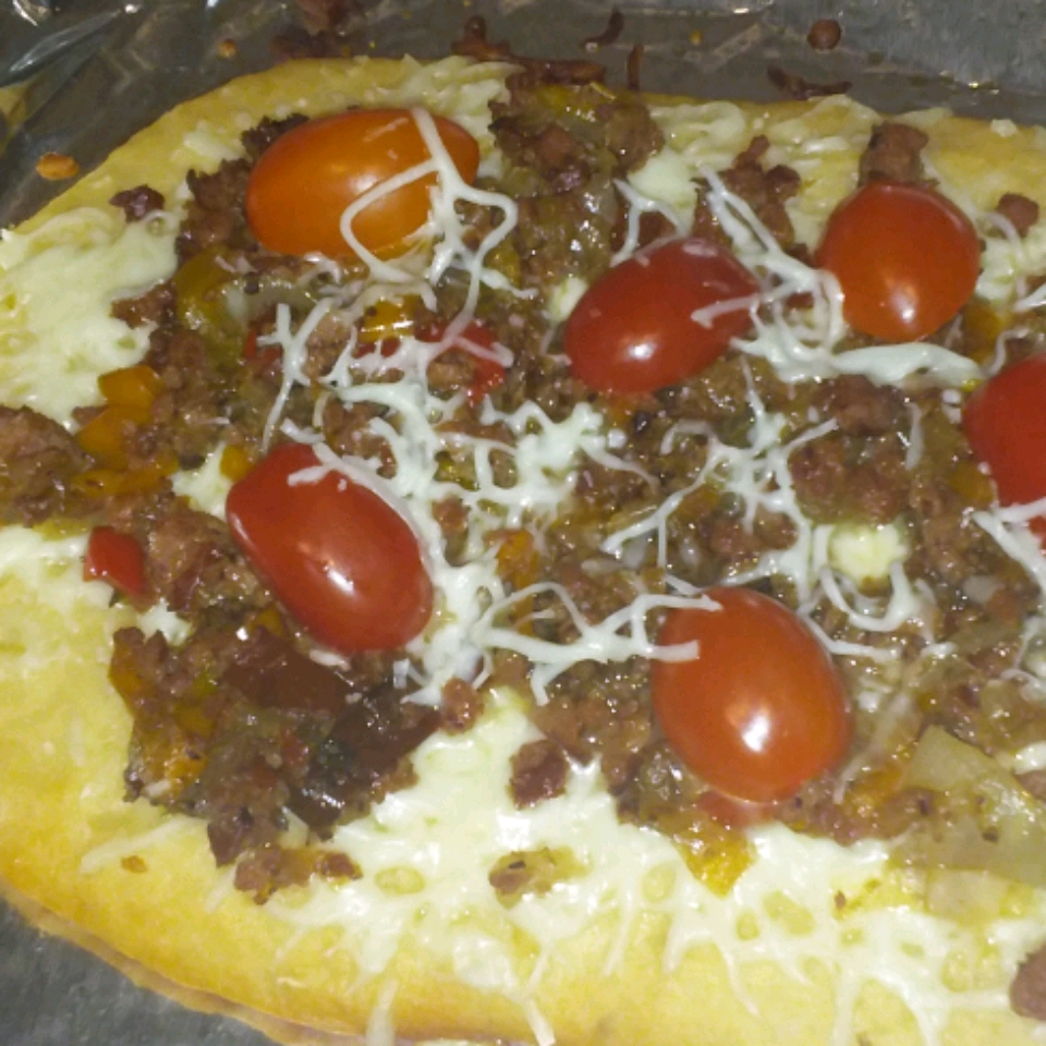 Sheet Pan Pizza with Hillshire Farm® Smoked Sausage & Burst Cherry Tomatoes Judy in Delaware
