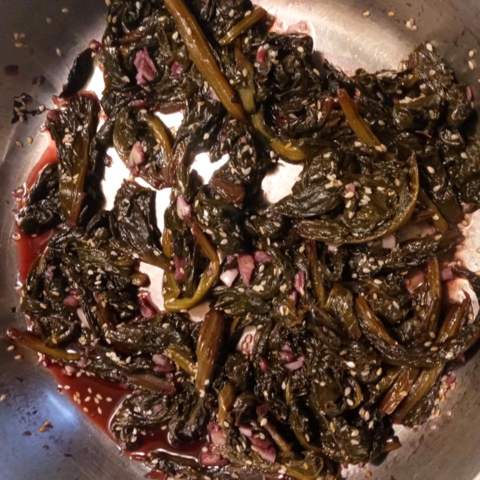 Asian-Inspired Mustard Greens Brittney C Bruce