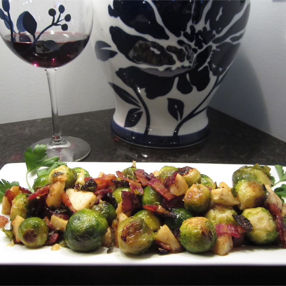 Roasted Apples and Brussels Sprouts Jacob French