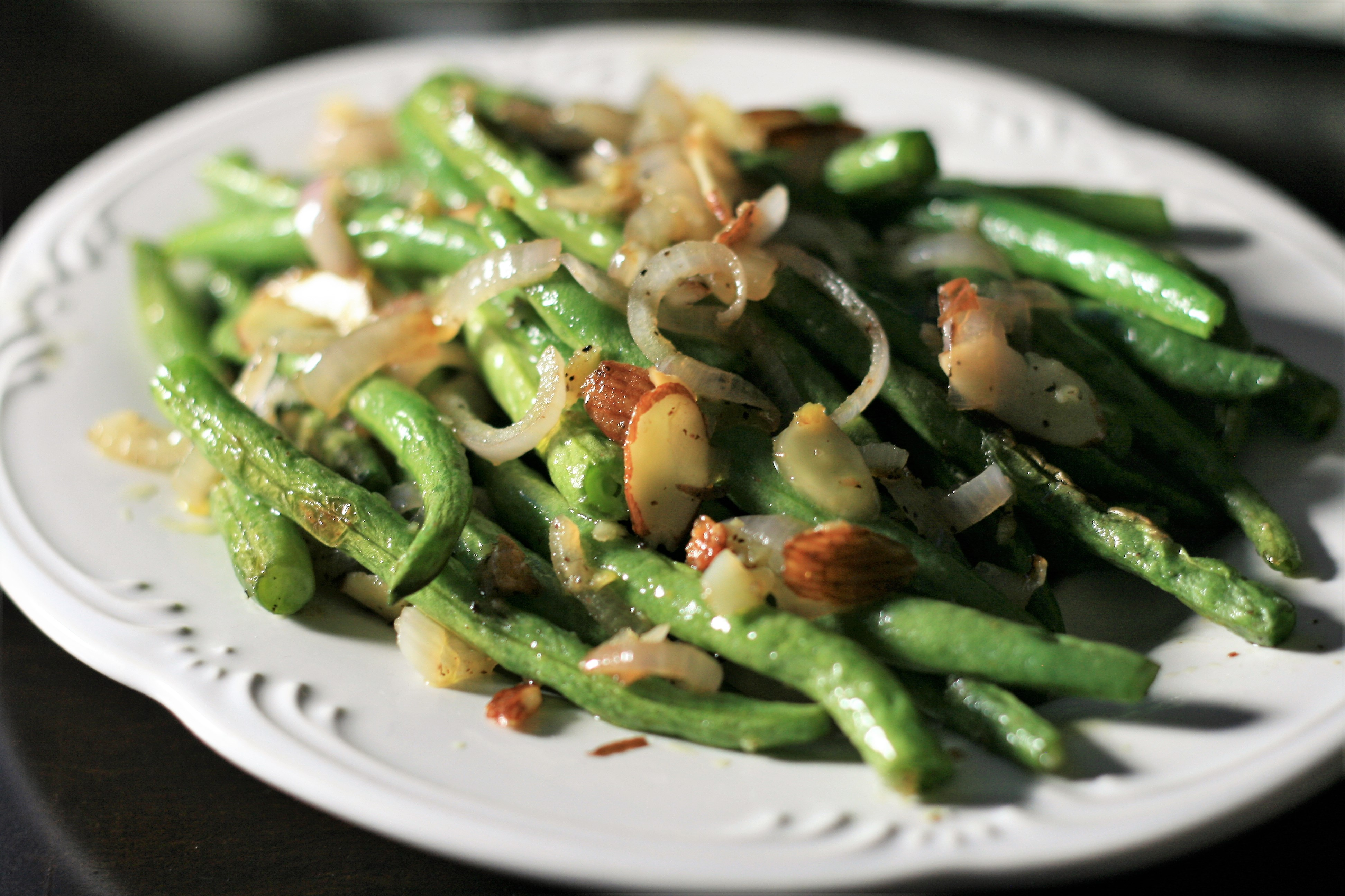 Roasted Green Beans and Shallots