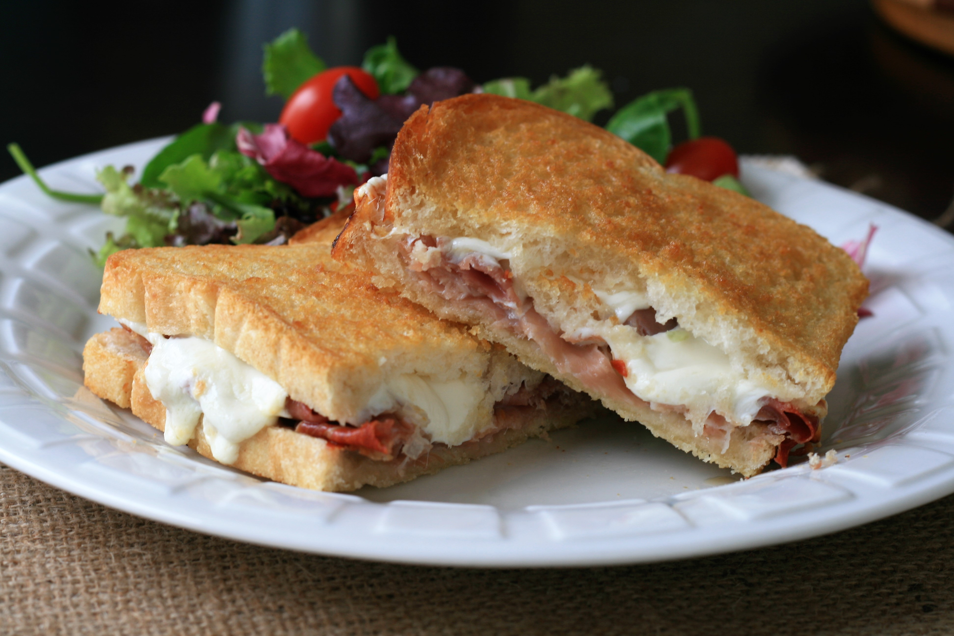 Air Fryer Prosciutto and Mozzarella Grilled Cheese