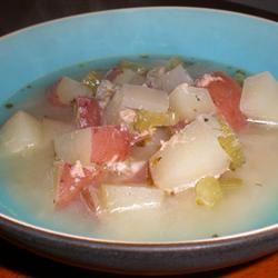 Lemon Salmon Soup kellieann