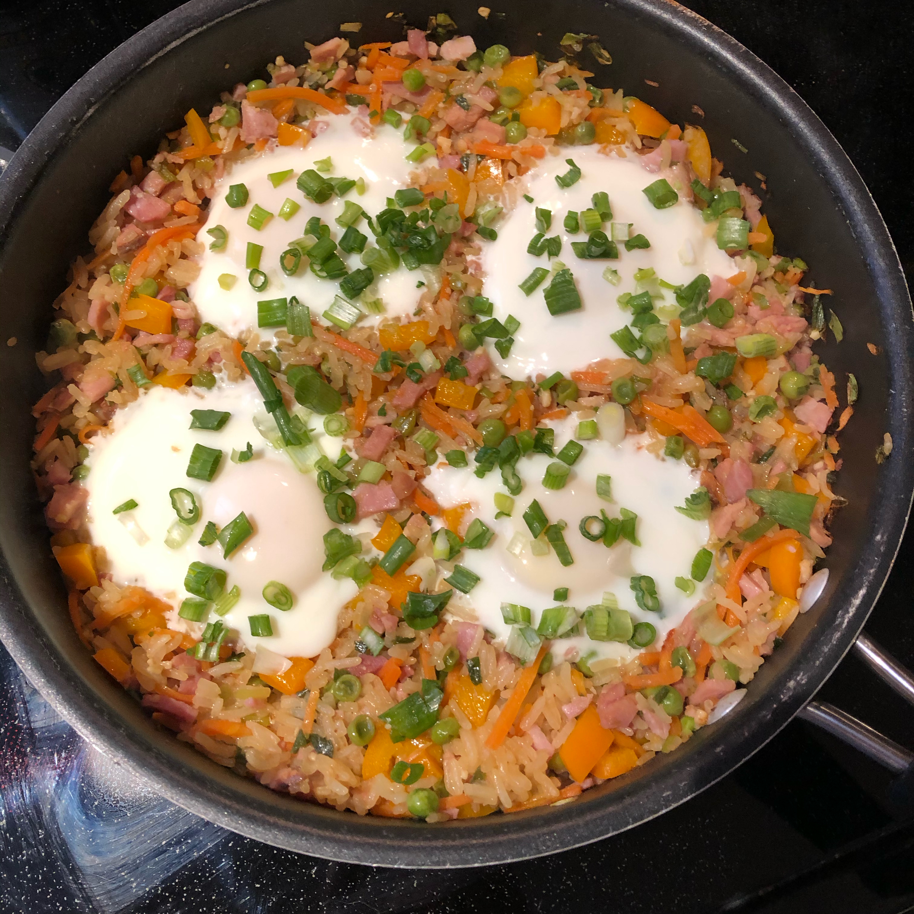 Ham Fried Rice with Eggs carly