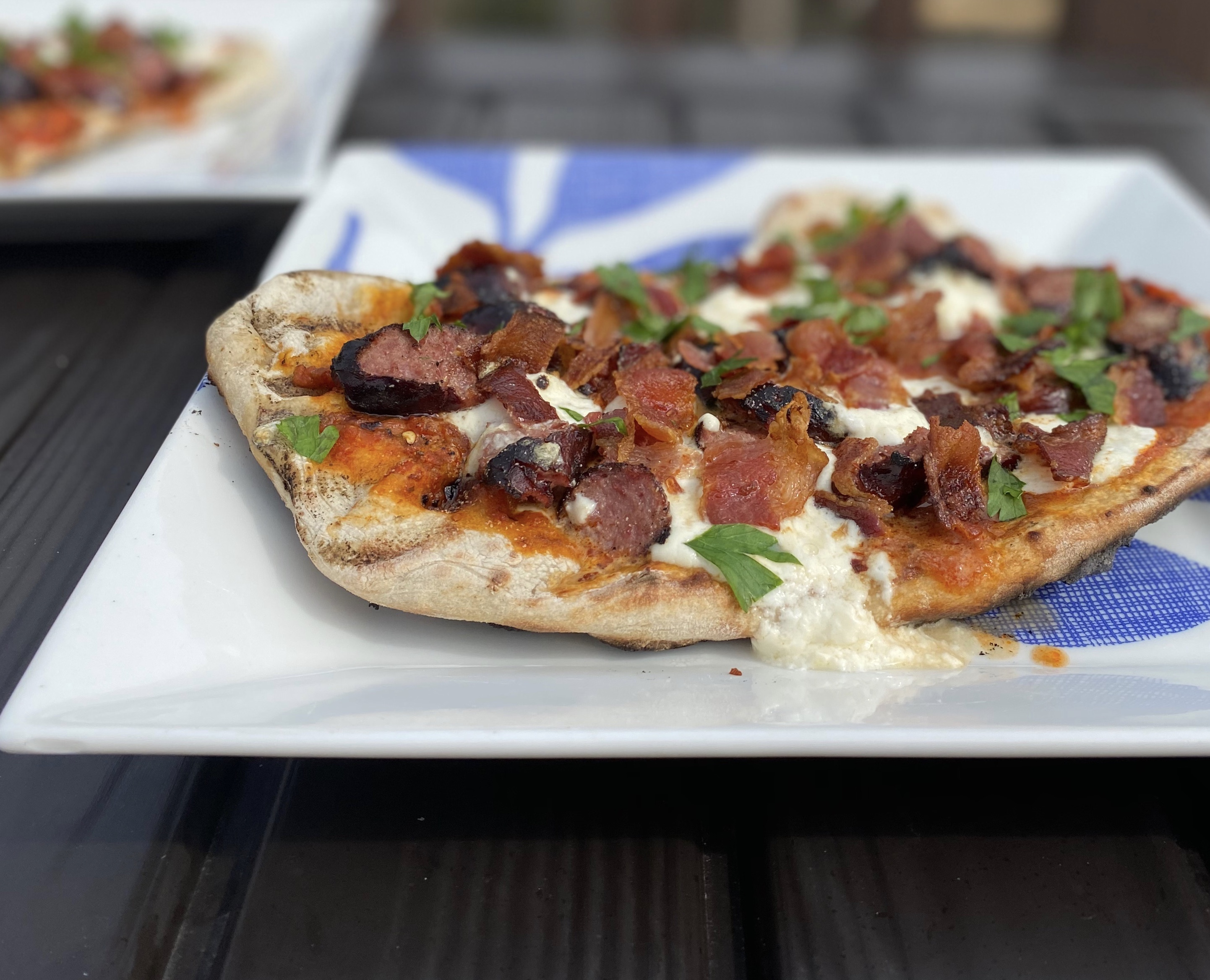 Grilled Burrata Pizza with Hillshire Farm® Smoked Sausage Jacolyn