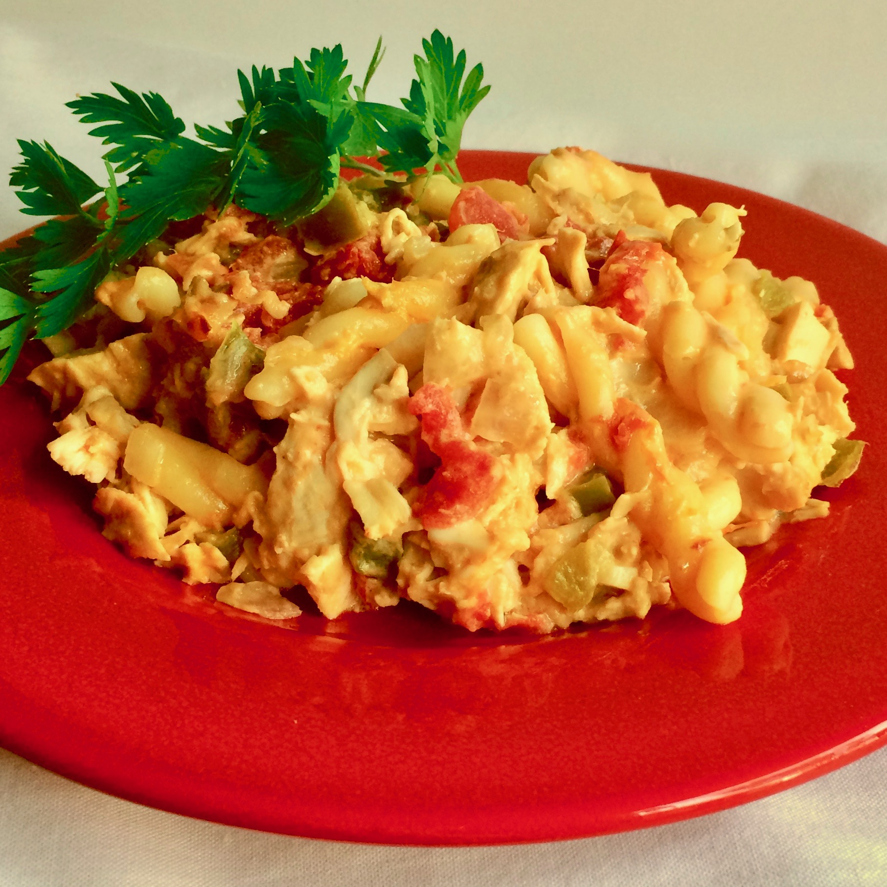 If 2020 wasn't the year of pantry cooking, there may never be another opportunity like it. While we were stuck at home and limiting our trips to the supermarket, many cooks got creative with what they had on hand. This recipe, aptly named Pantry Chicken Casserole, is a great option for using up many stock-up essentials, like canned tomatoes, Velveeta cheese, and pasta.
