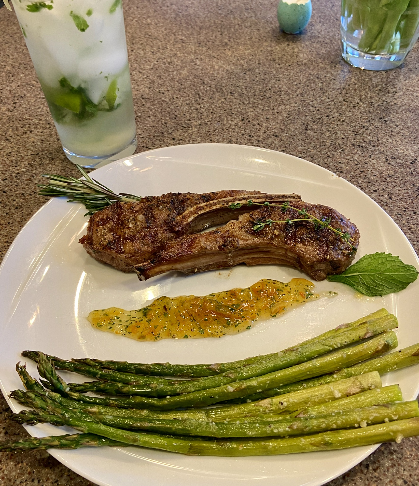 Chef John's Grilled Lamb with Mint Orange Sauce