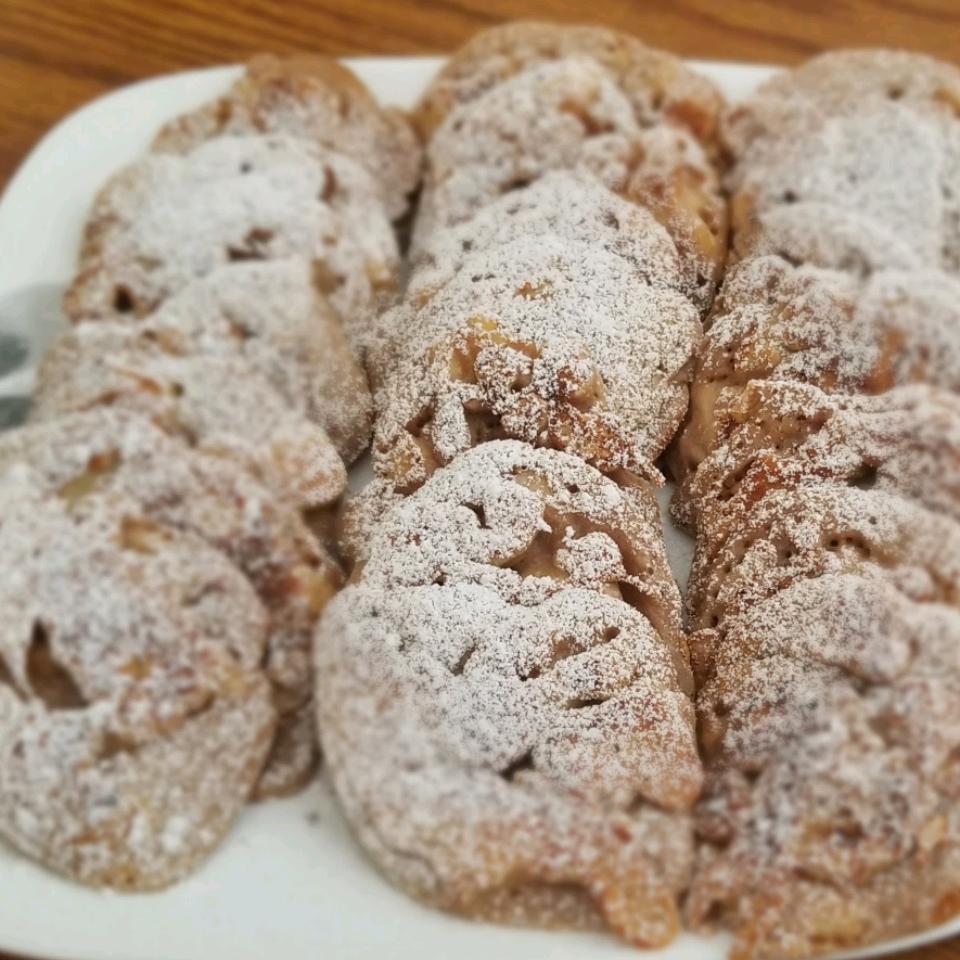 Racuchy z Jablkami (Polish Apple Pancakes) Amy Ganser