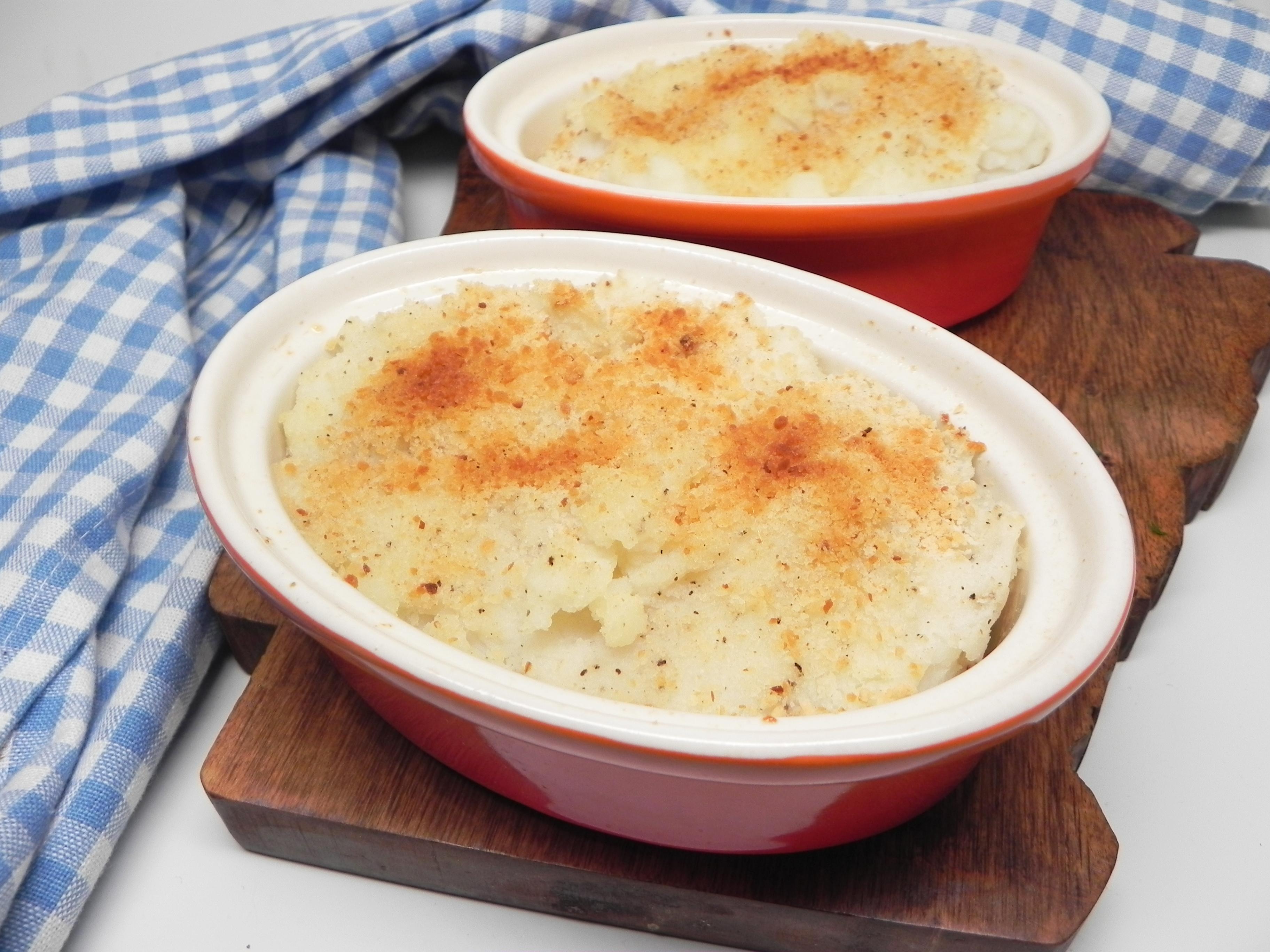 Baked Garlic Mashed Potatoes