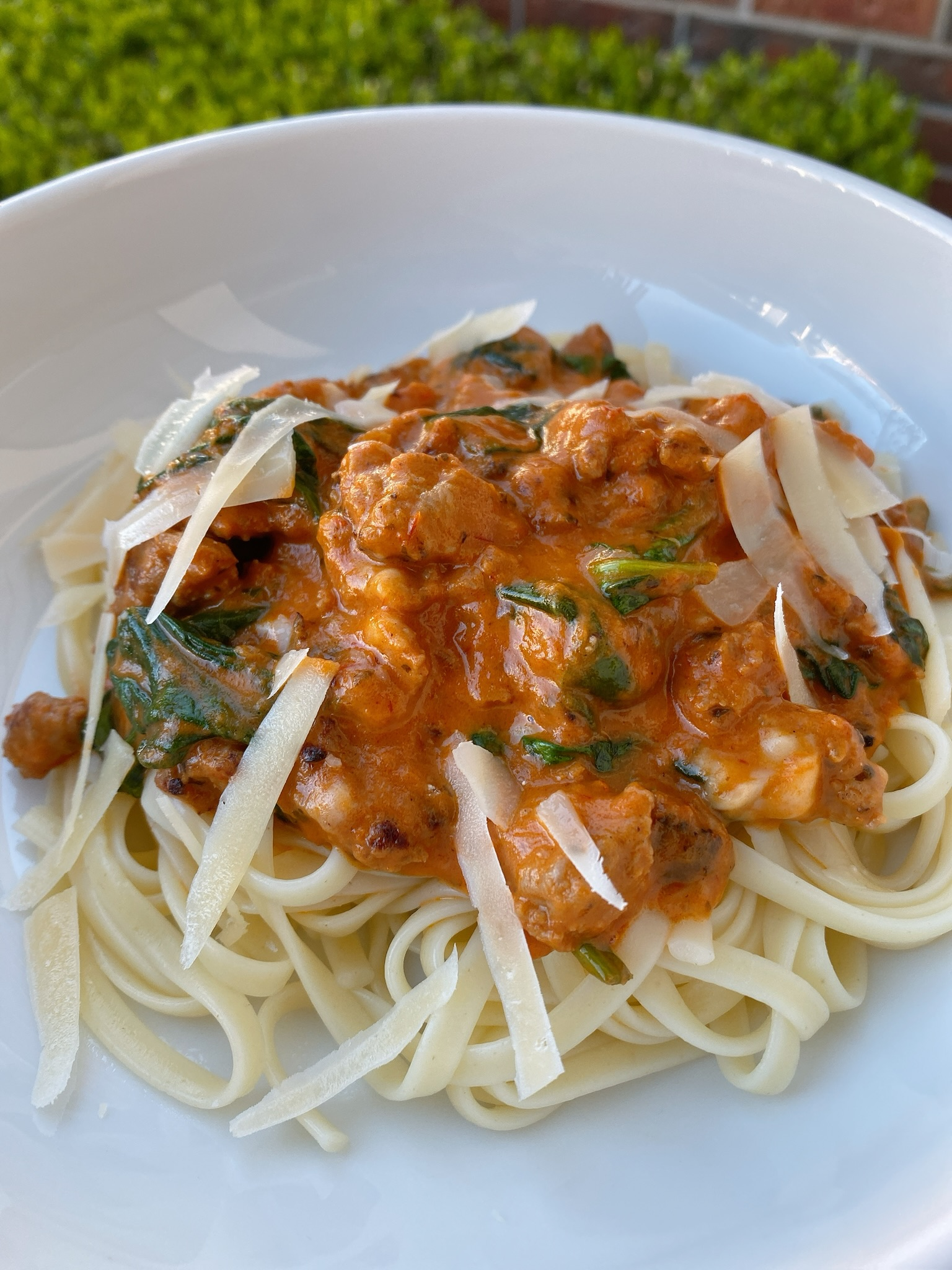 Quick Linguine with Turkey Ragu for Two
