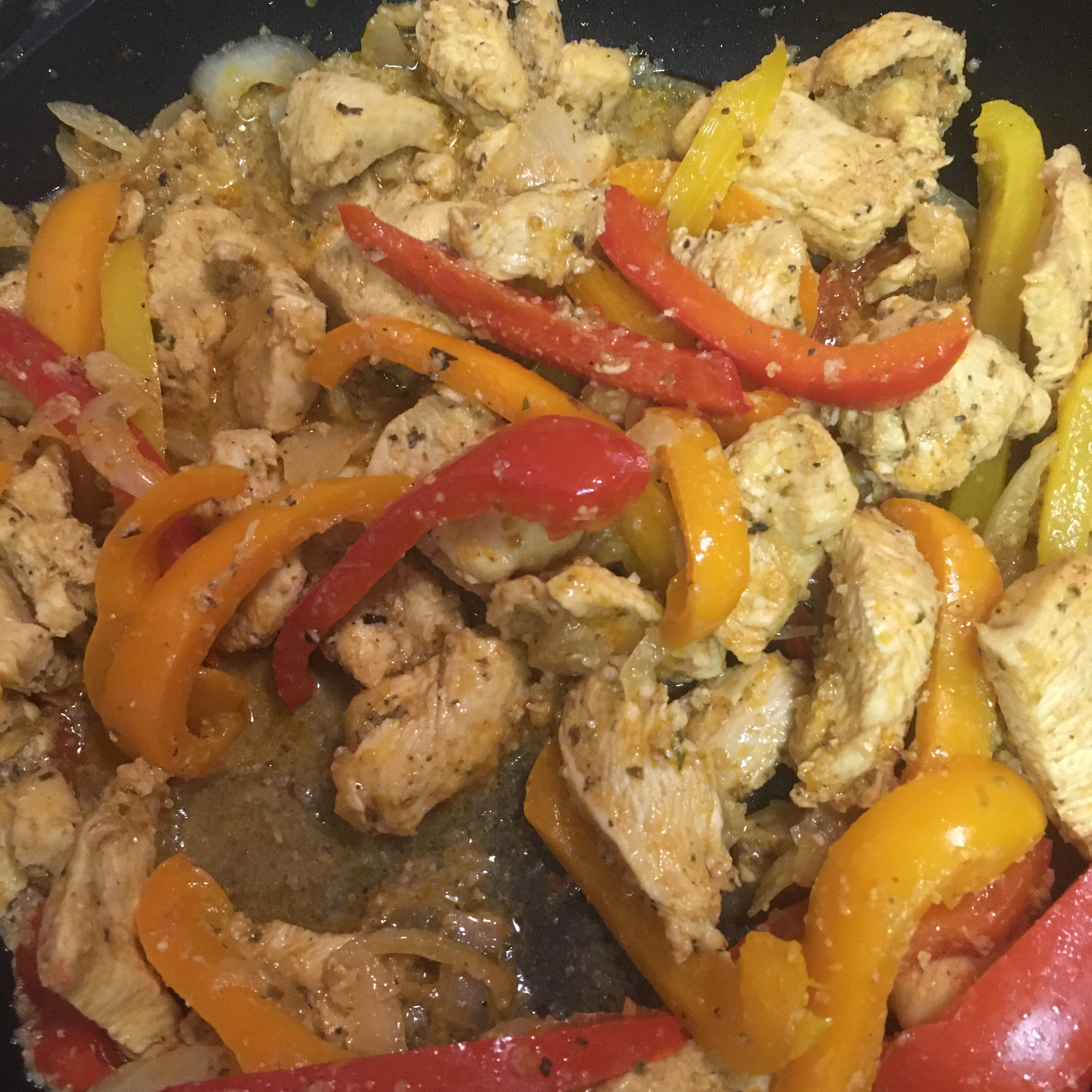 Easy Chicken and Bell Pepper Fajitas Timmydee