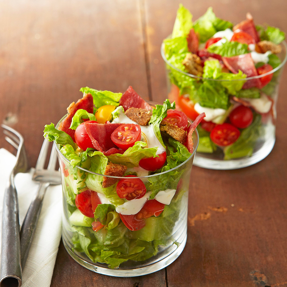 Make over classic BLT sandwiches into low-carb--and company-worthy--salad cups.