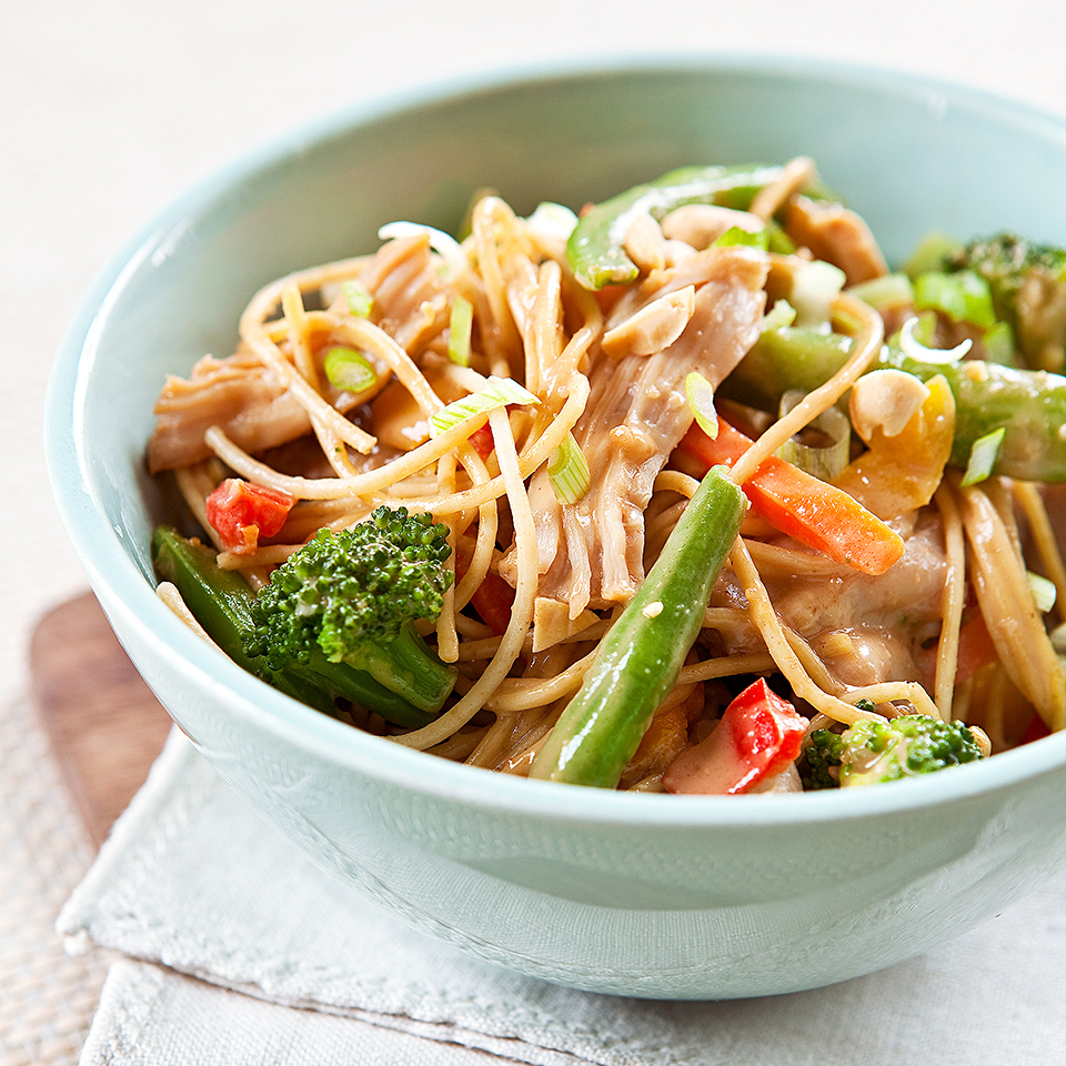 Peanut Noodles with Chicken and Vegetables Diabetic Living Magazine