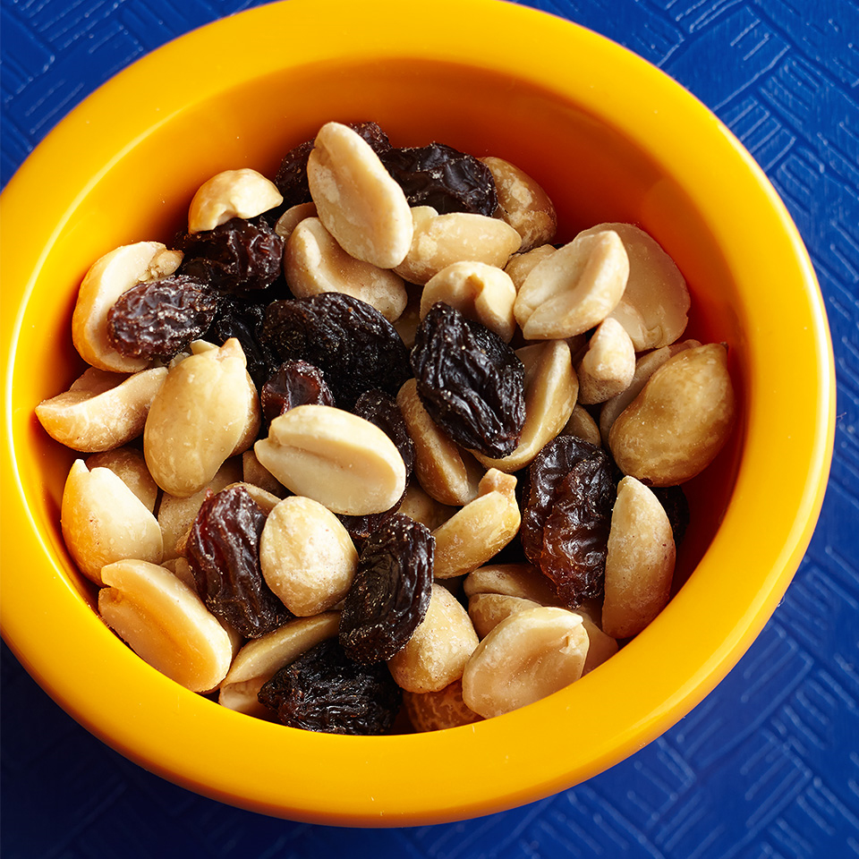Good Old Raisins and Peanuts, or GORP, is simple as can be, but this blend of sweet and nutty flavors can't be beat. Pack in small snack bags for on-the-go munching.