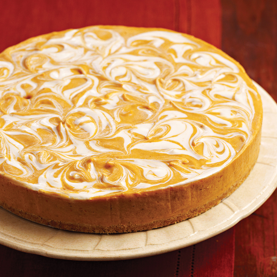 No-Bake Pumpkin Swirl Cheesecake Trusted Brands