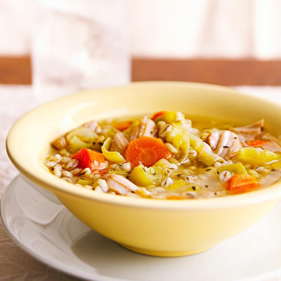 Chicken, Barley, and Leek Stew Trusted Brands