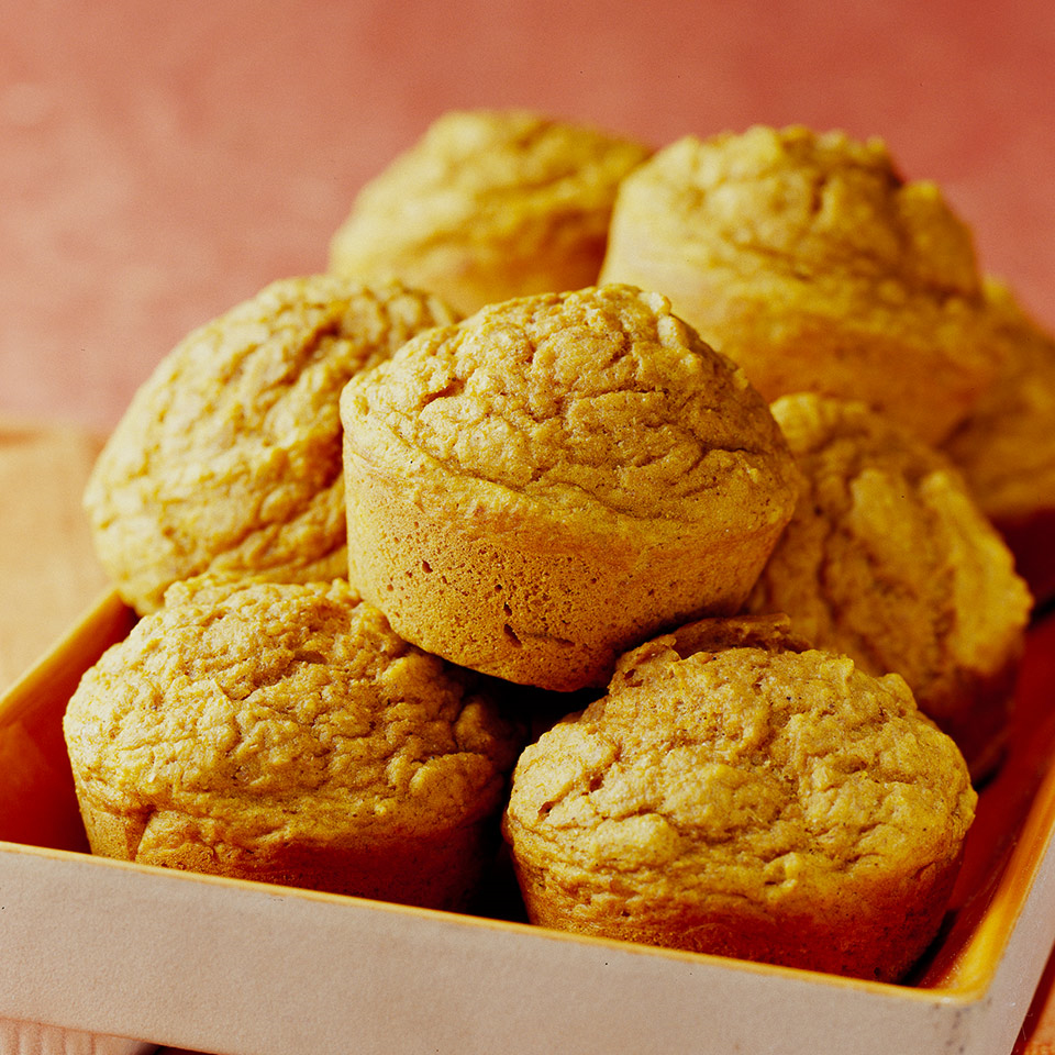 Applesauce and pumpkin make these muffins moist, low-fat, healthful and delicious. Serve them for Thanksgiving or Christmas breakfast or brunch, or for a lunchbox treat. Source: Diabetic Living Magazine