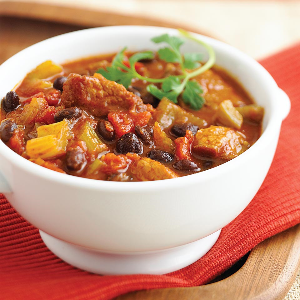For a fall open house, make this beef chili in the slow cooker. As guests arrive, set out chips and cheese and let them help themselves to a bowl.