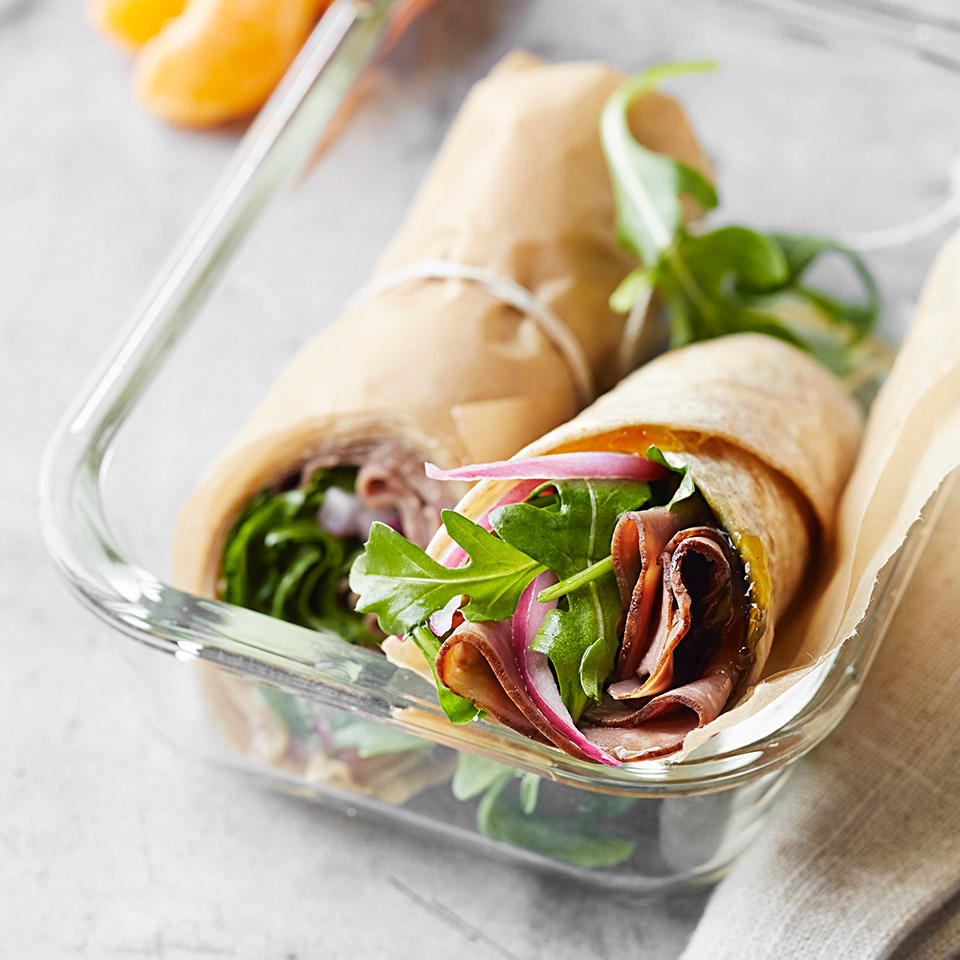 Roast Beef, Arugula, and Pickled Onion Wrap Trusted Brands