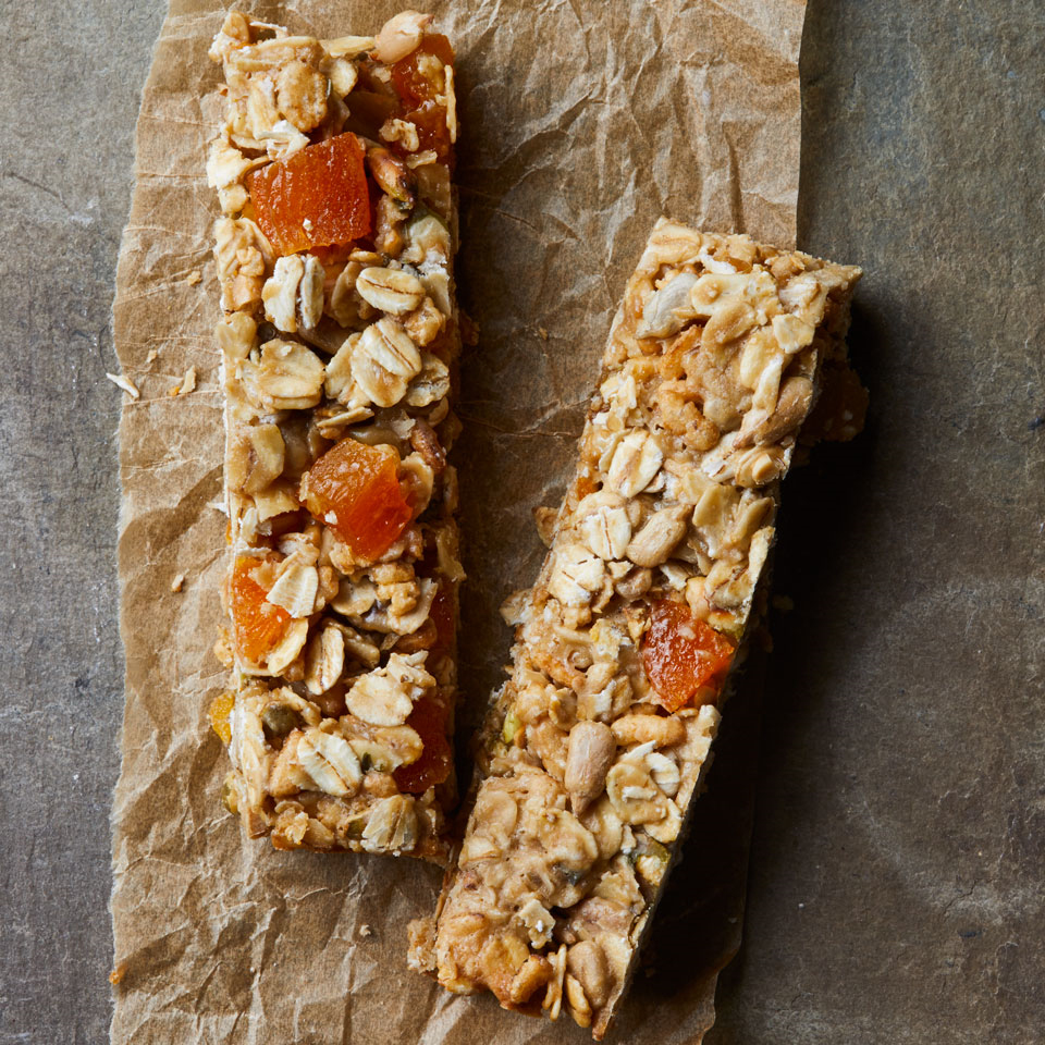 Apricot-Sunflower Granola Bars Breana Killeen