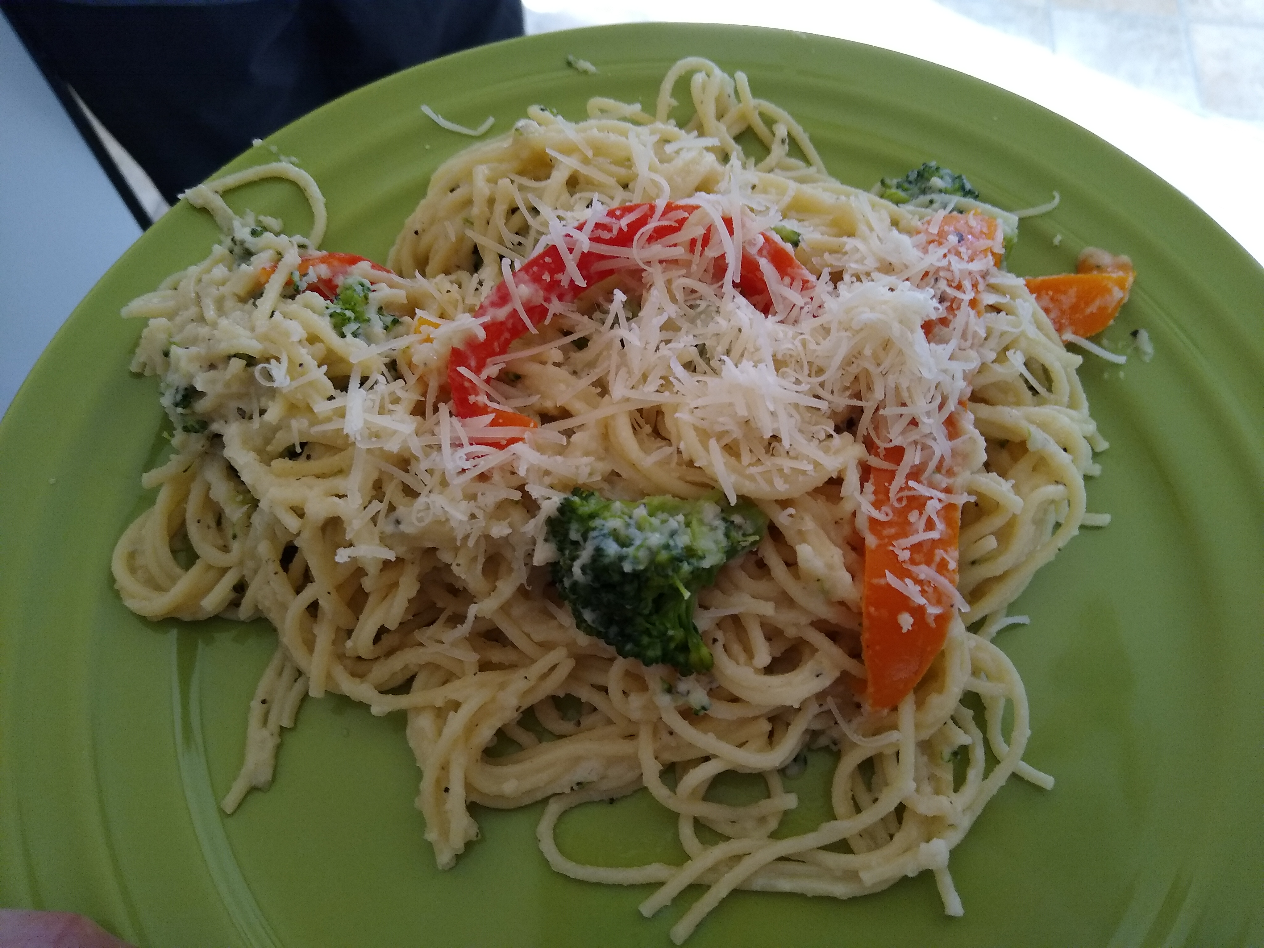 Pasta Primavera with Cauliflower Sauce