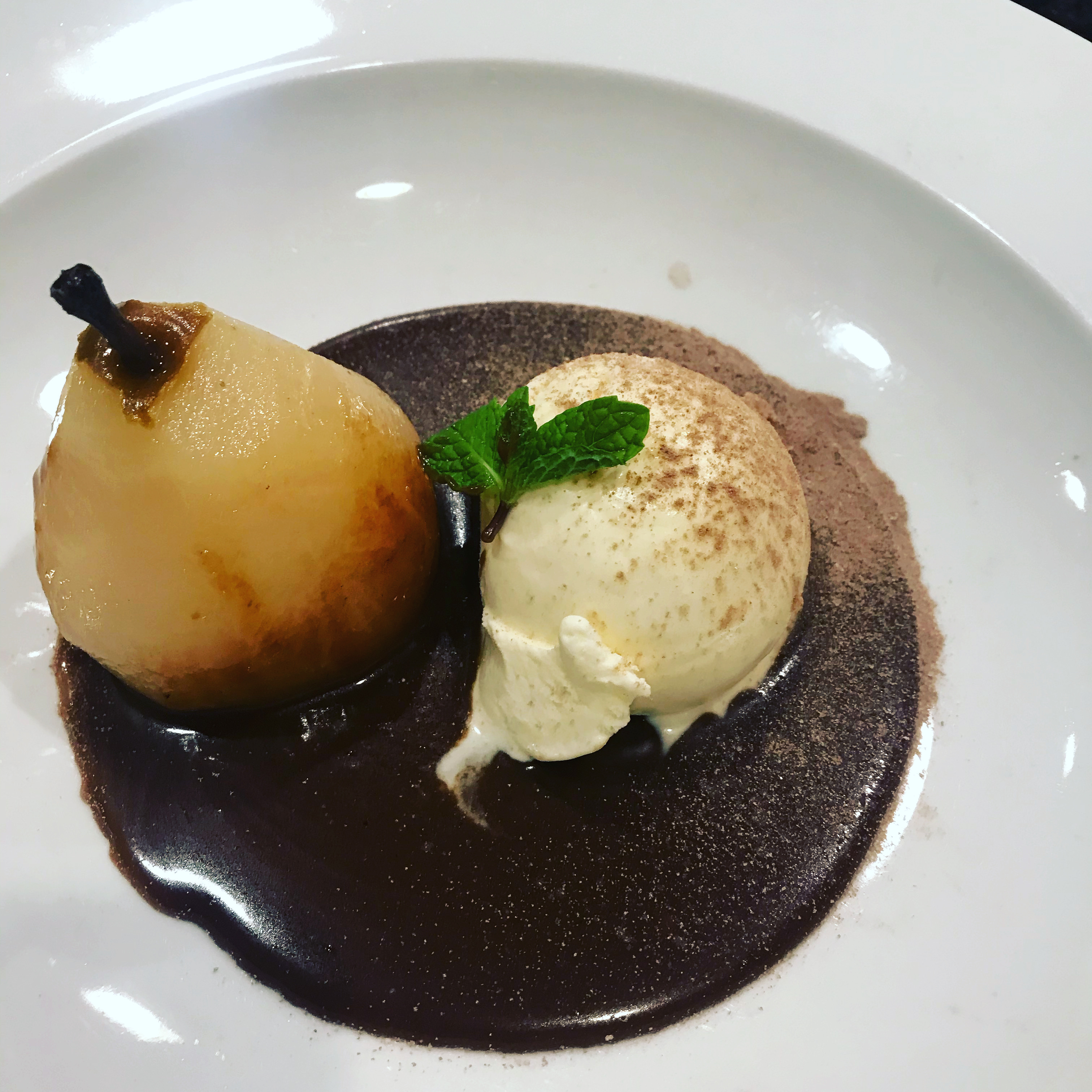 Poached Pears Belle Helene Michael Perez
