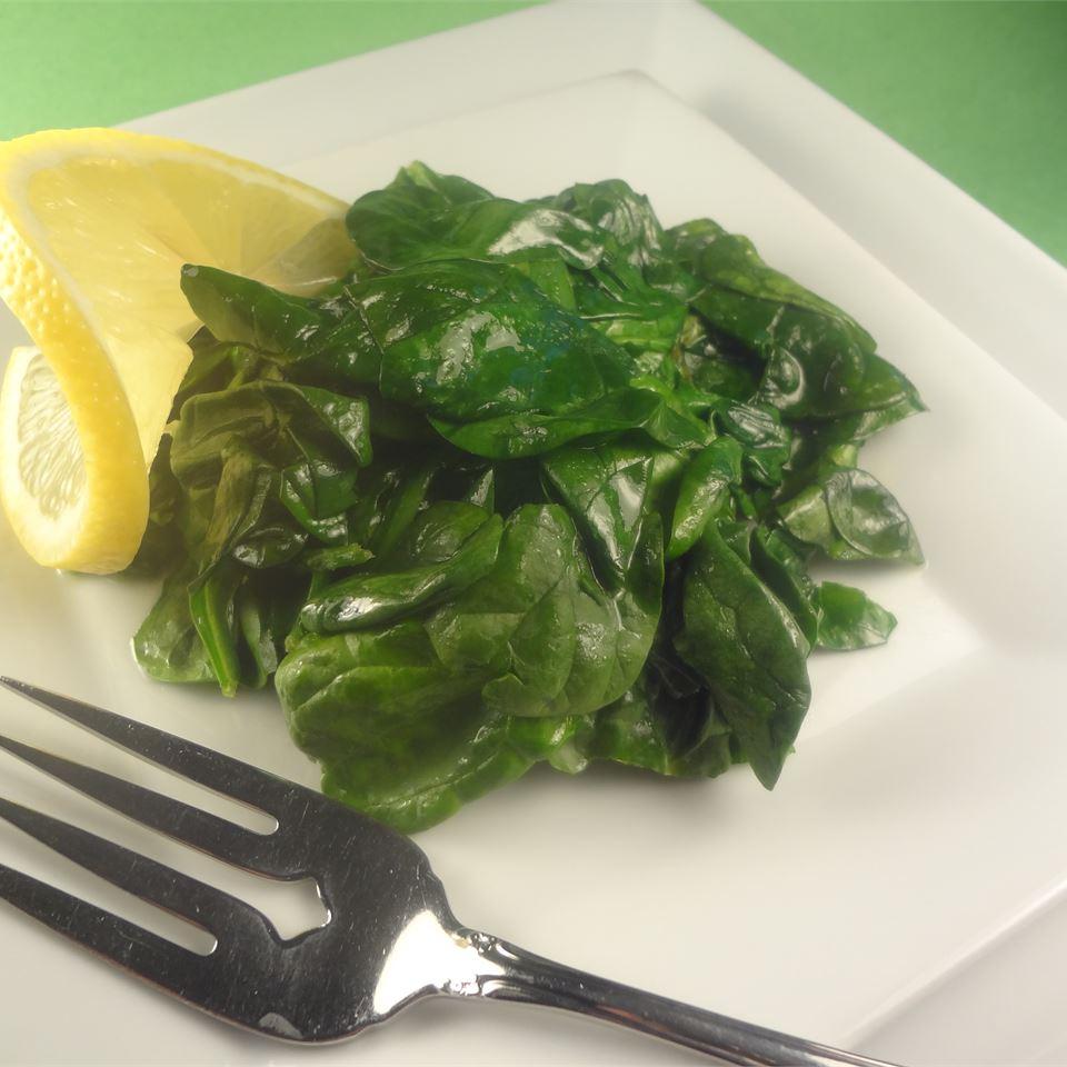 Buttery Lemon Spinach