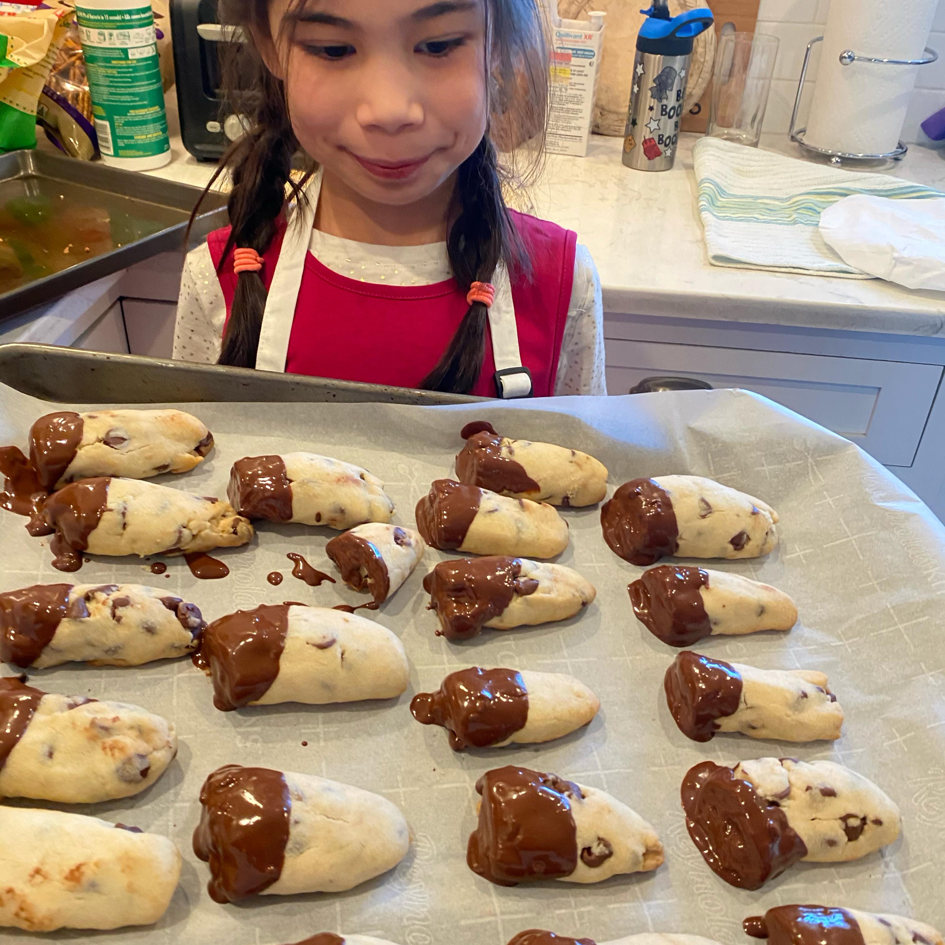 Mini Chocolate Chip Shortbread Cookies SC