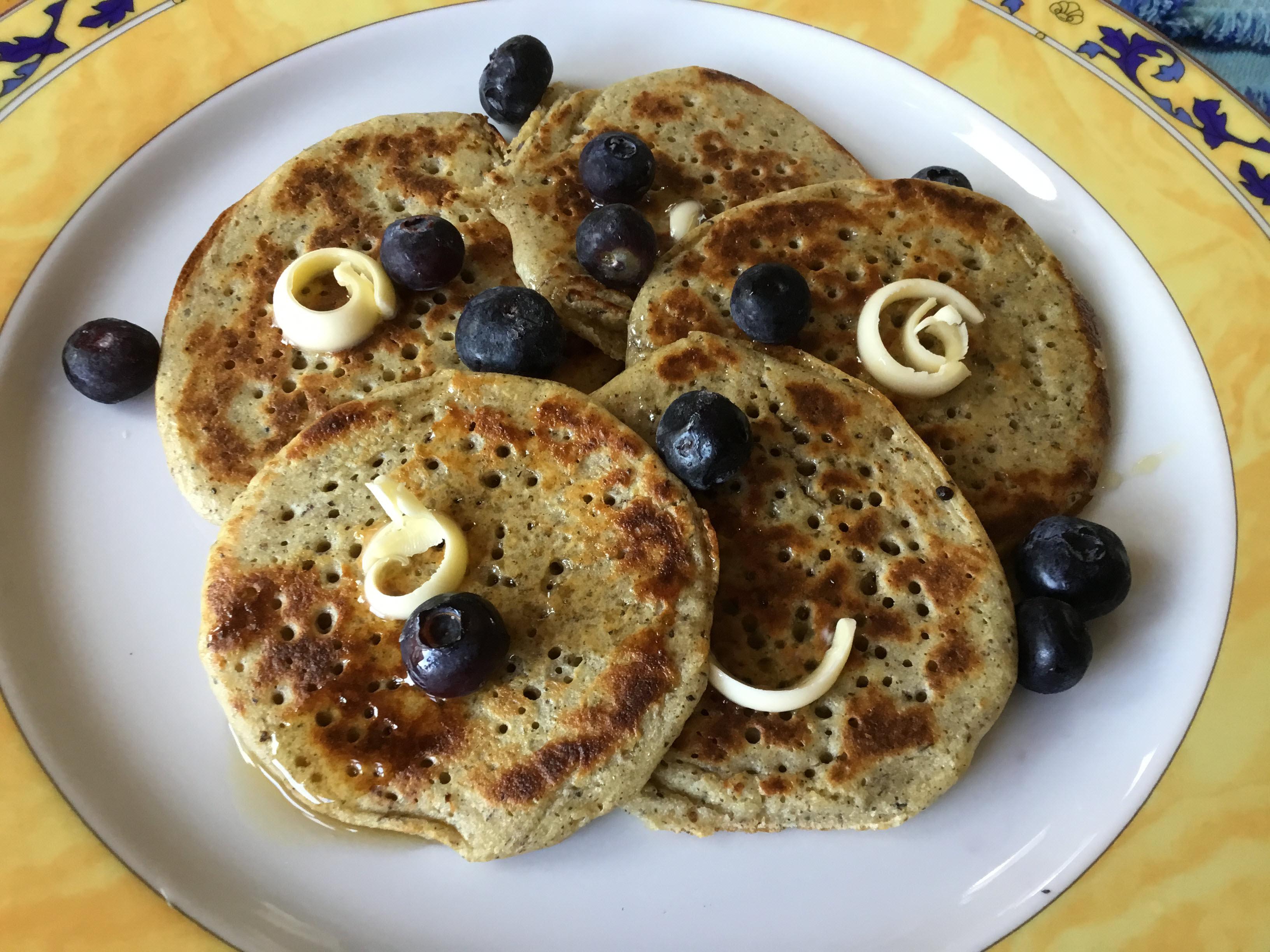 Overnight Sourdough Buckwheat Pancakes