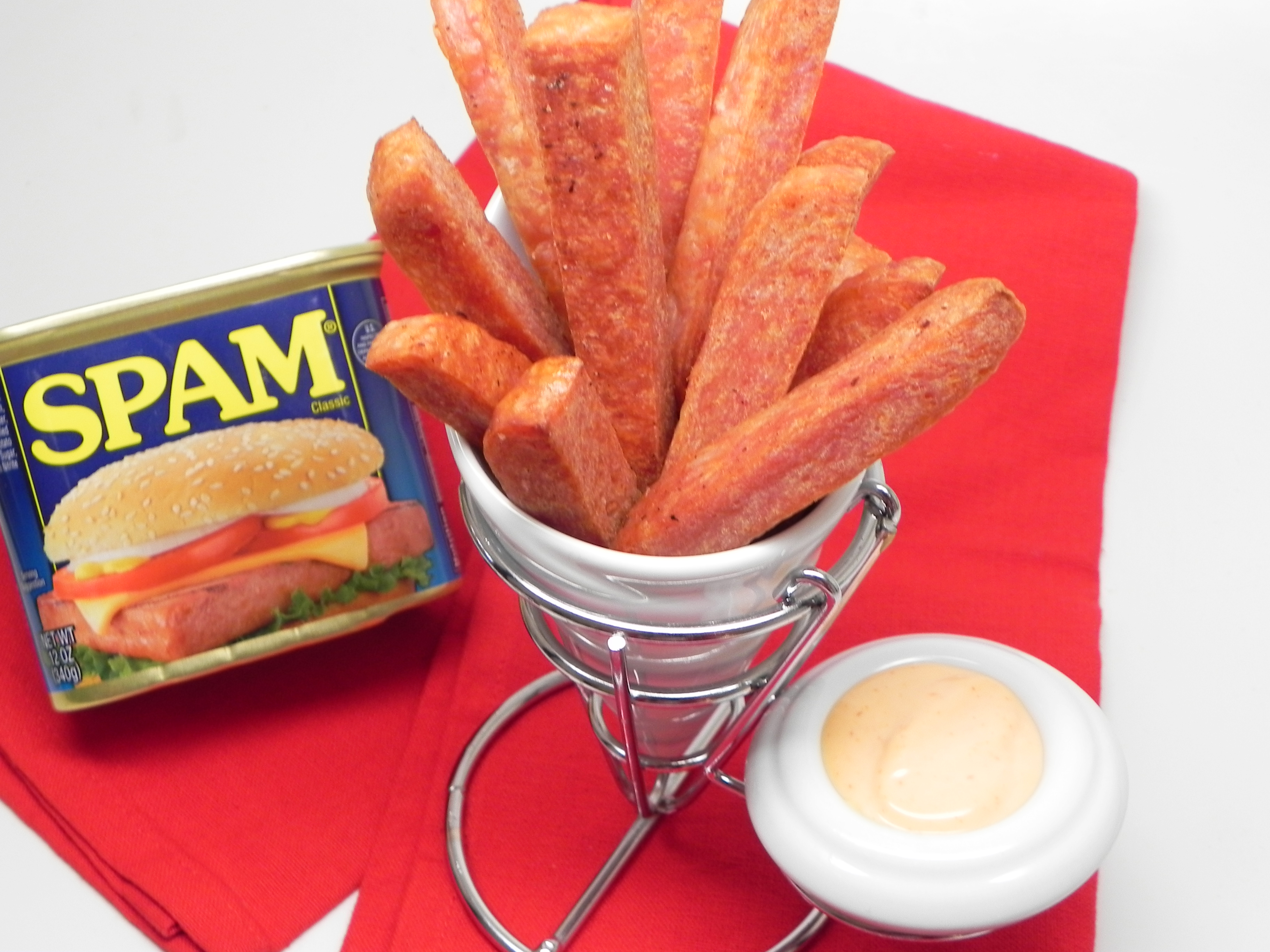 Air Fryer SPAM® Fries with Spicy Dipping Sauce