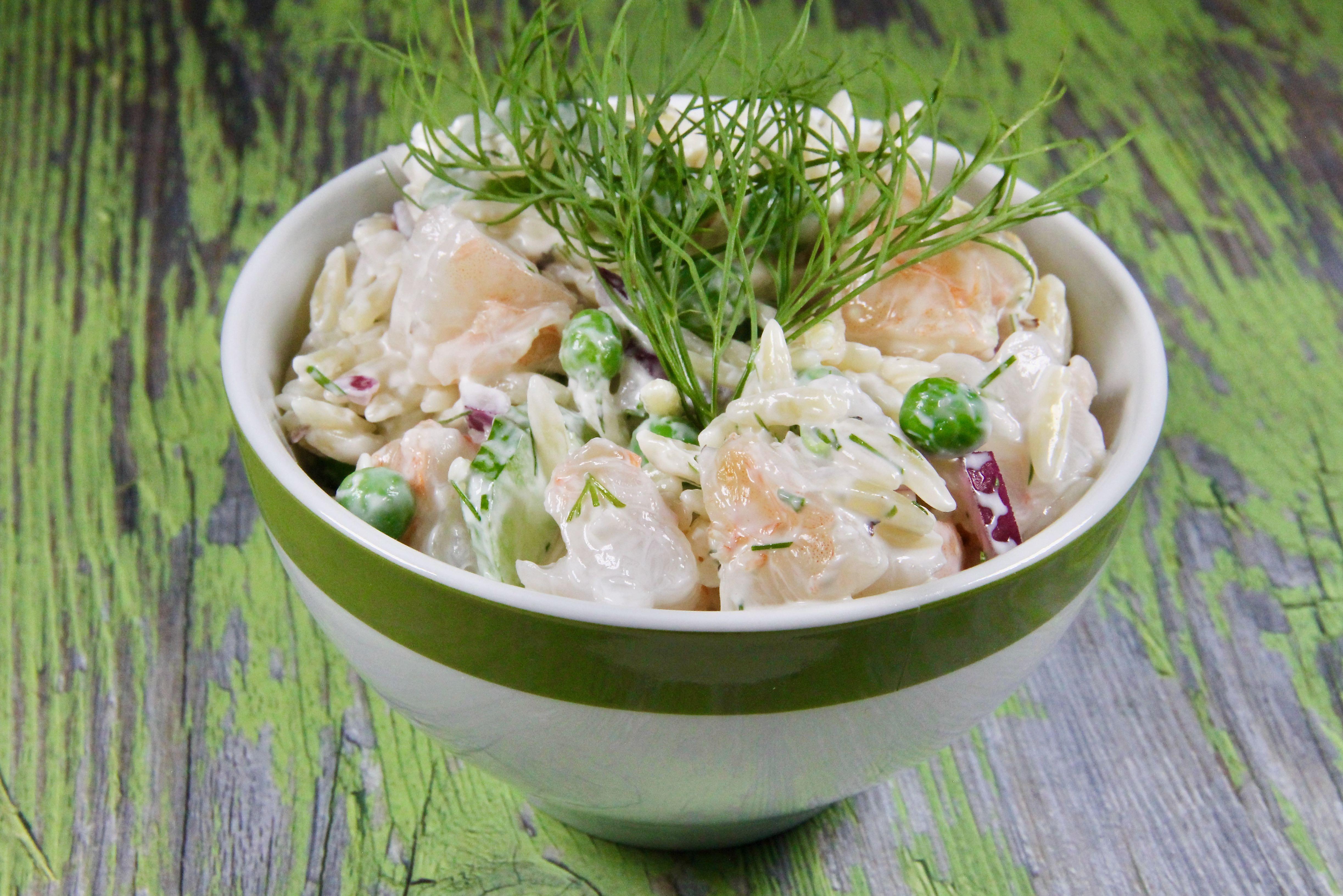 Shrimp Pasta Salad With Dill