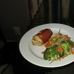 Prosciutto-Wrapped Chicken Breasts with Herbed Goat Cheese