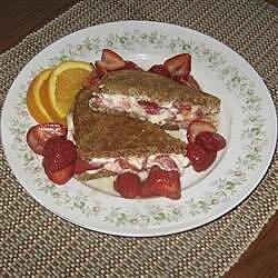toasted strawberry cream cheese breakfast sandwiches recipe