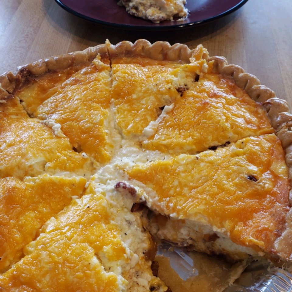 Bacon, Cheese, and Caramelized Onion Quiche