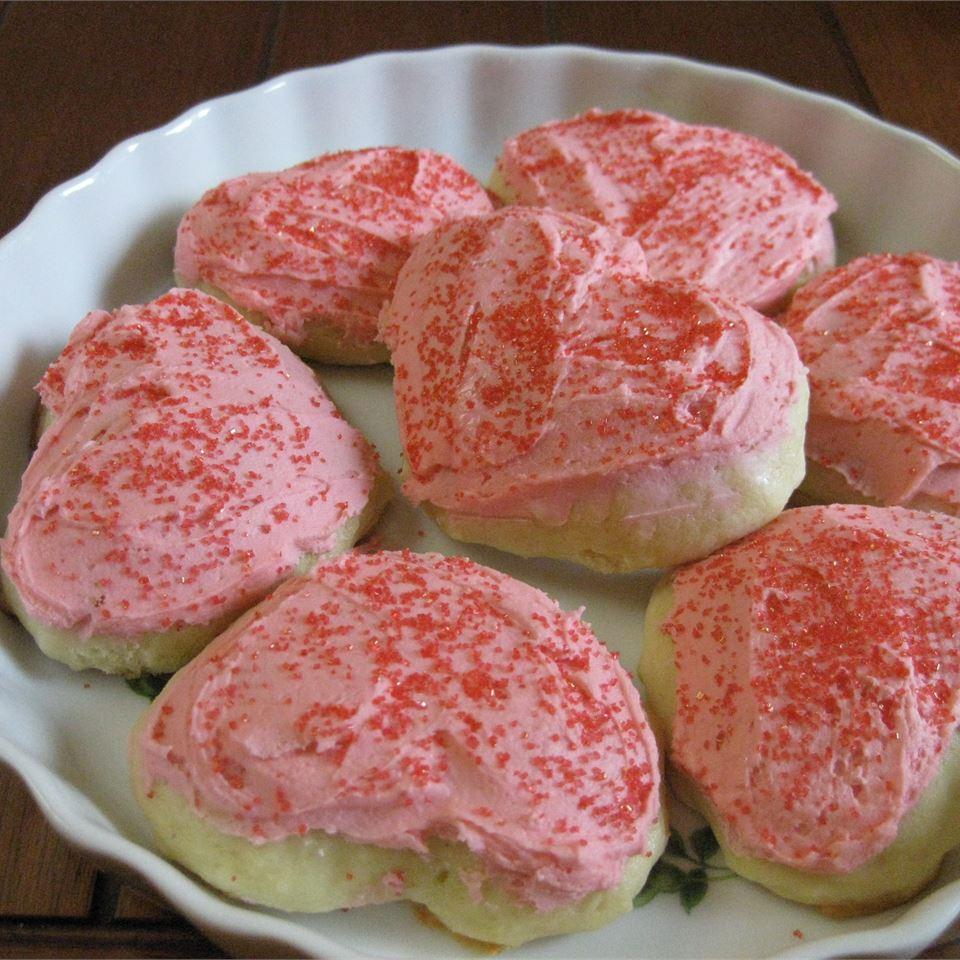Pink Icing Cookies