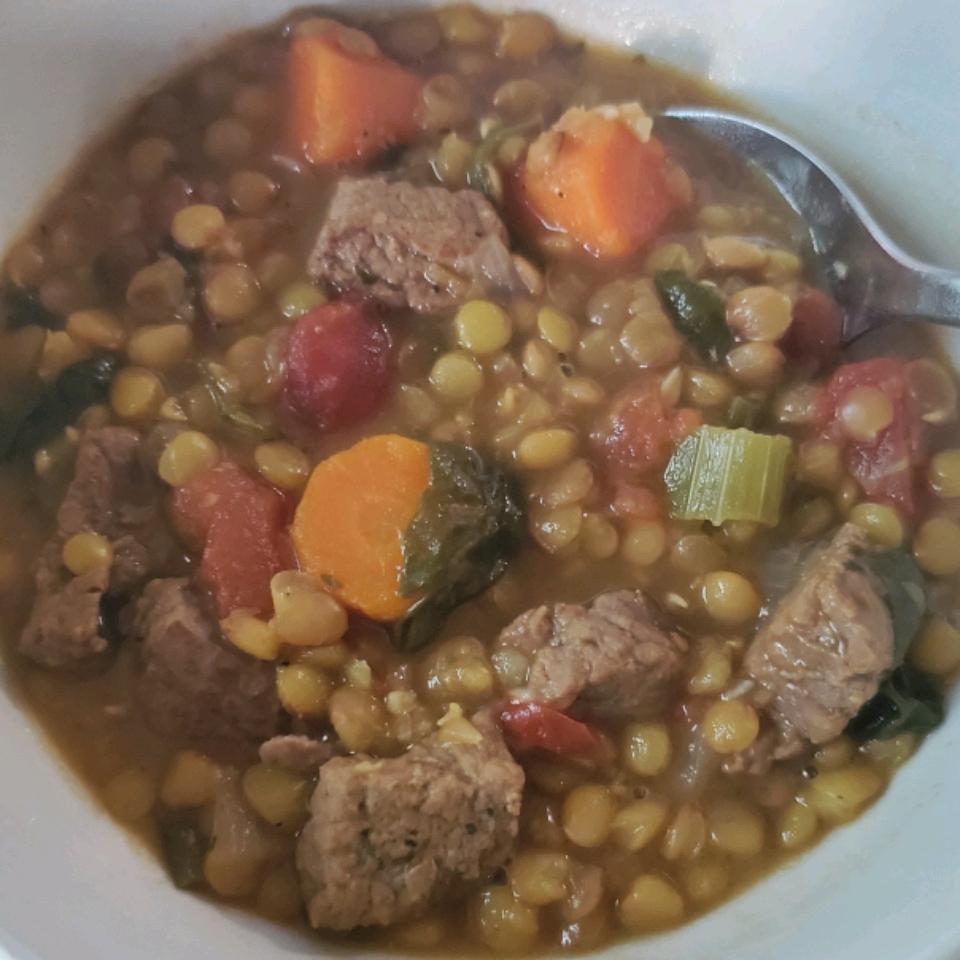 Beef and Lentil Soup Rose Cruz